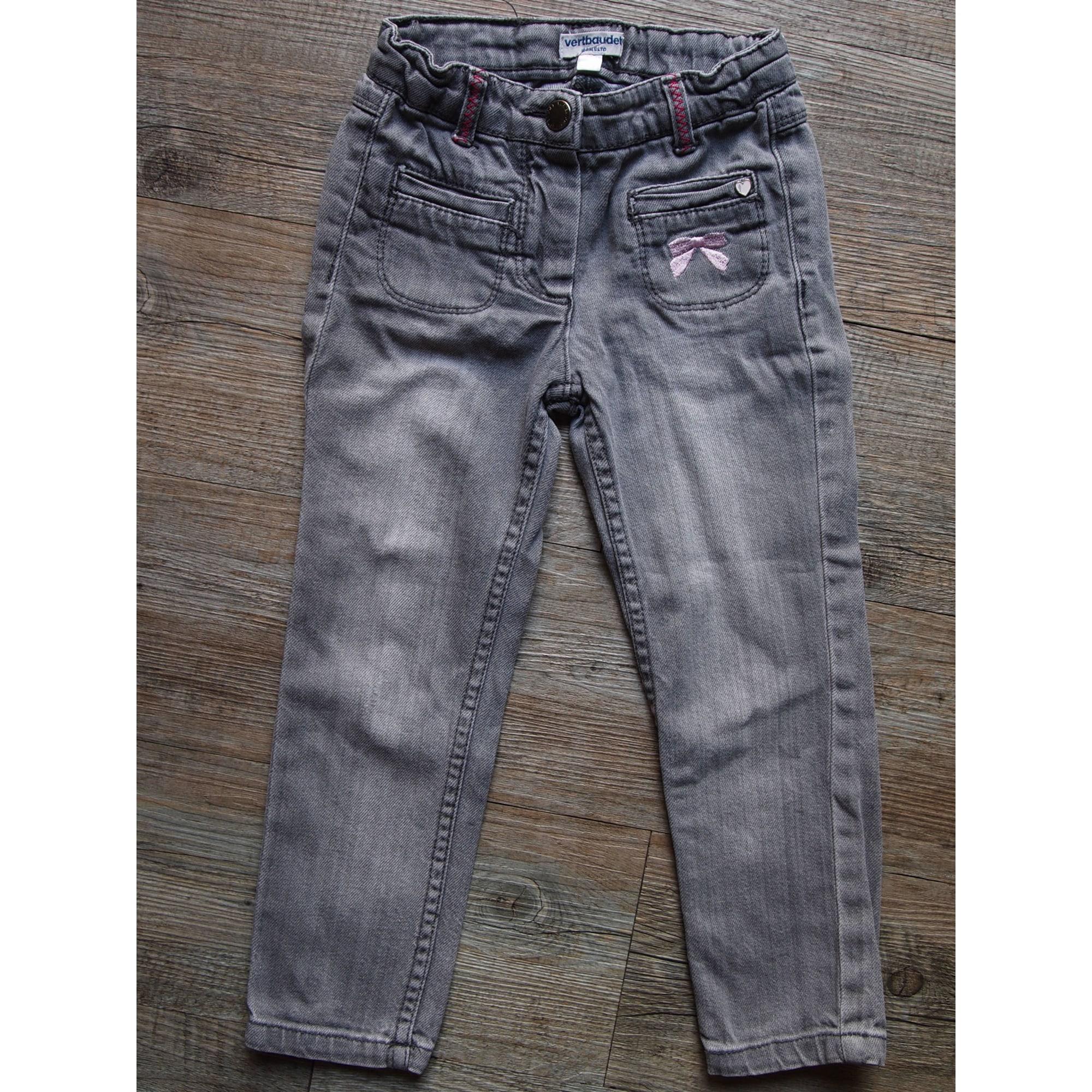 Jeans droit VERTBAUDET Gris, anthracite