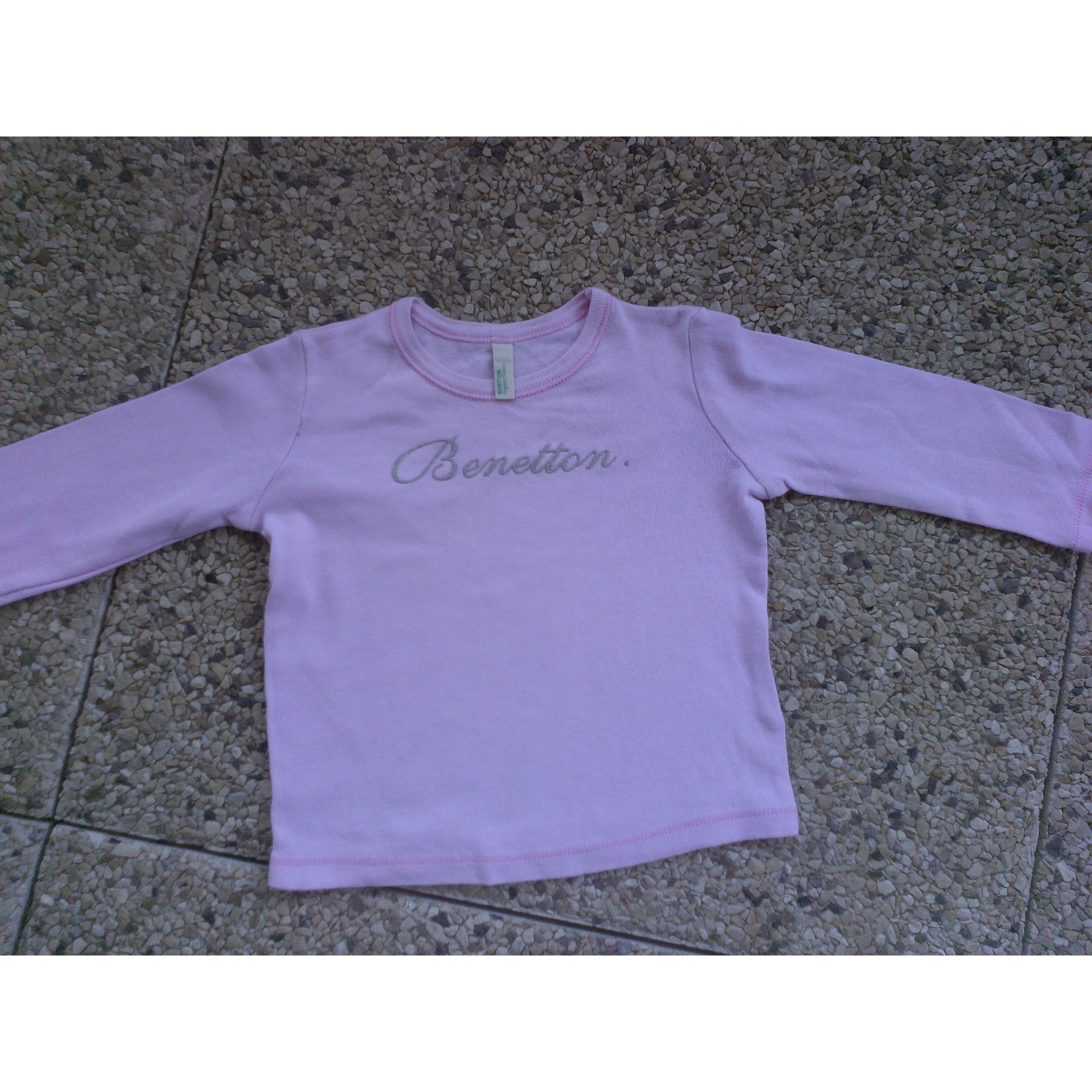 Top, tee shirt BENETTON Rose, fuschia, vieux rose