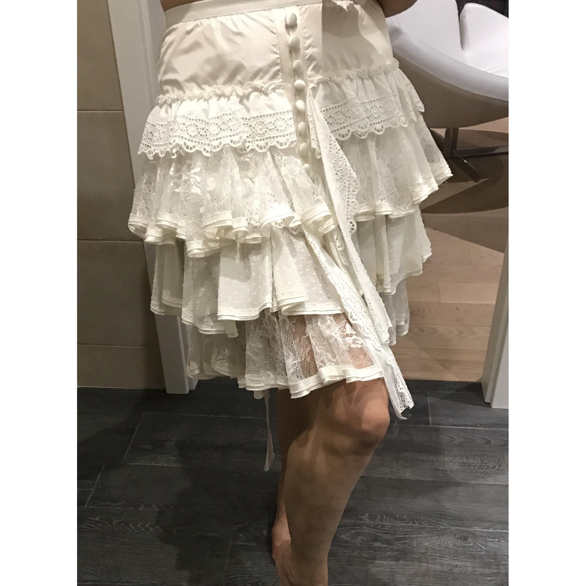Jupe mi-longue DOLCE & GABBANA Blanc, blanc cassé, écru