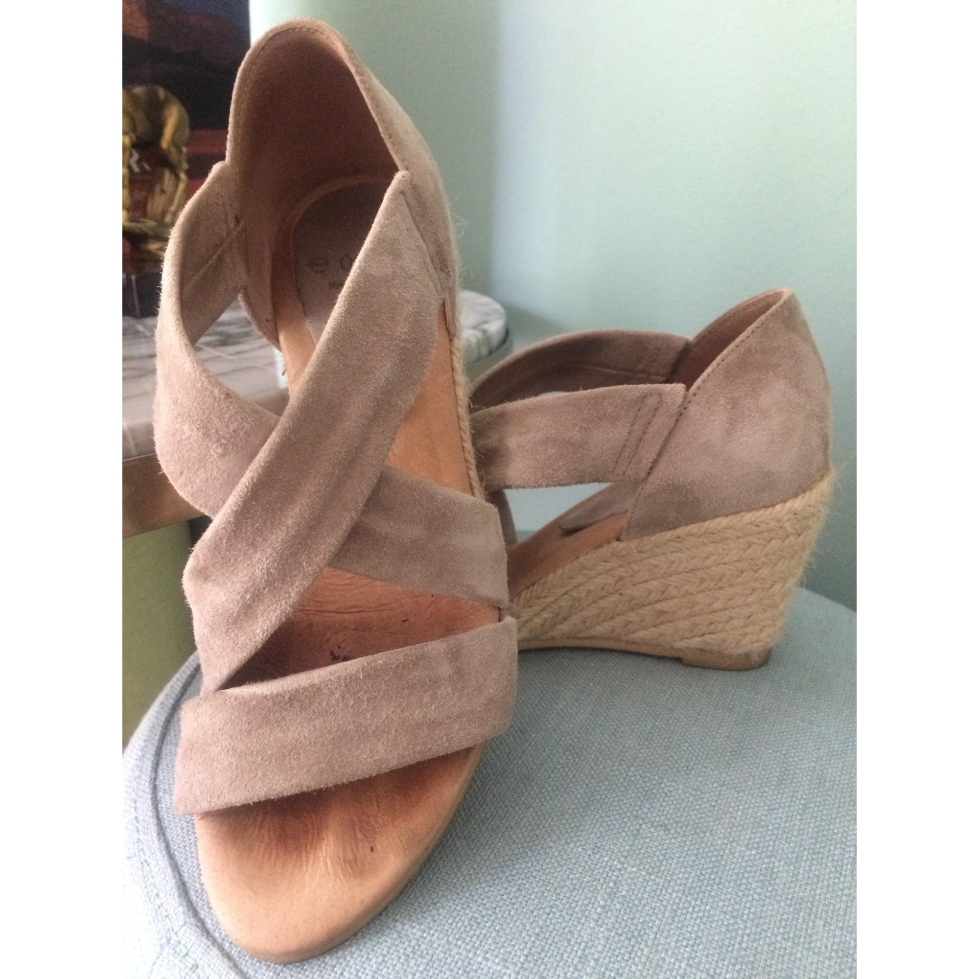 Sandales compensées EXIT Beige, camel