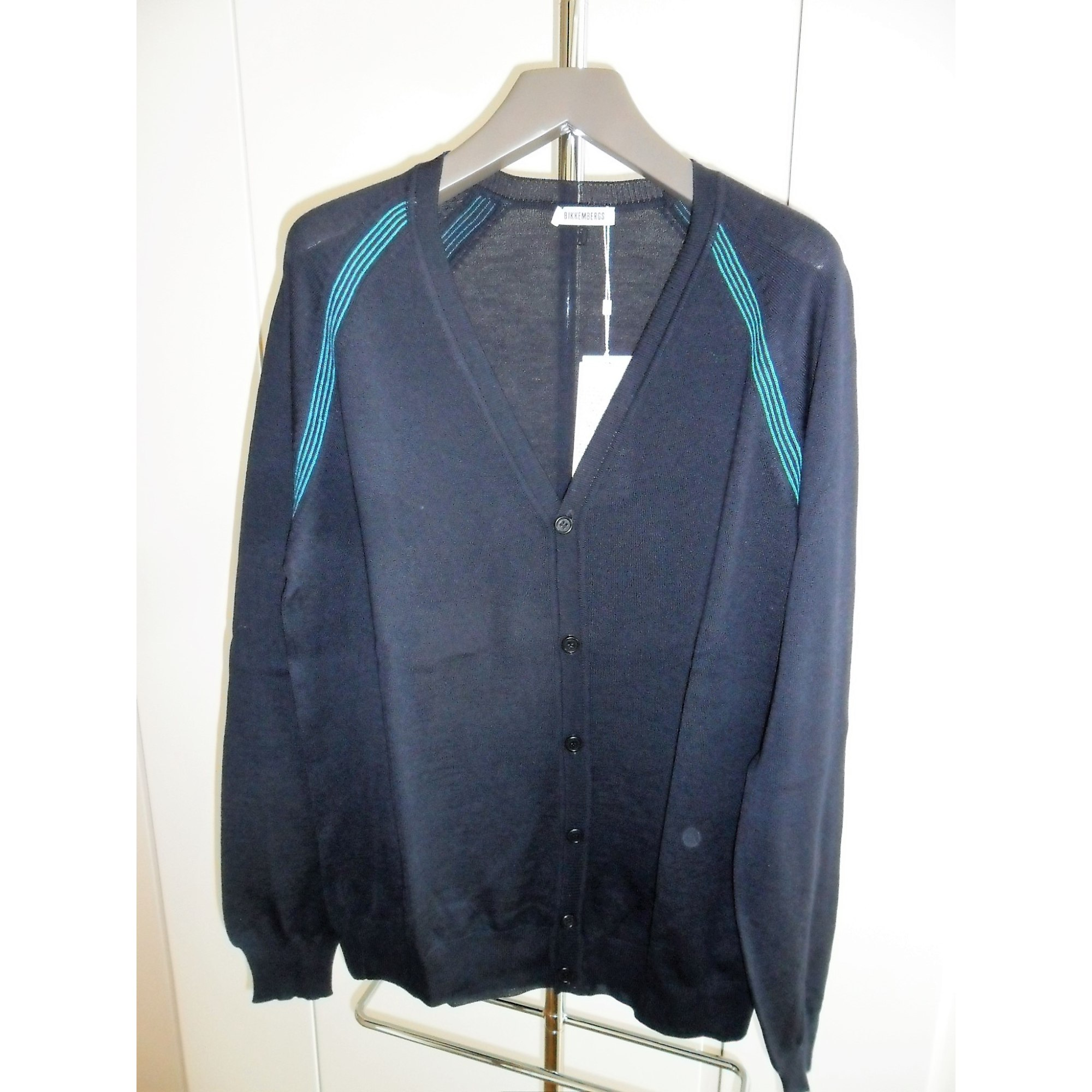 Gilet, cardigan DIRK BIKKEMBERGS Bleu, bleu marine, bleu turquoise