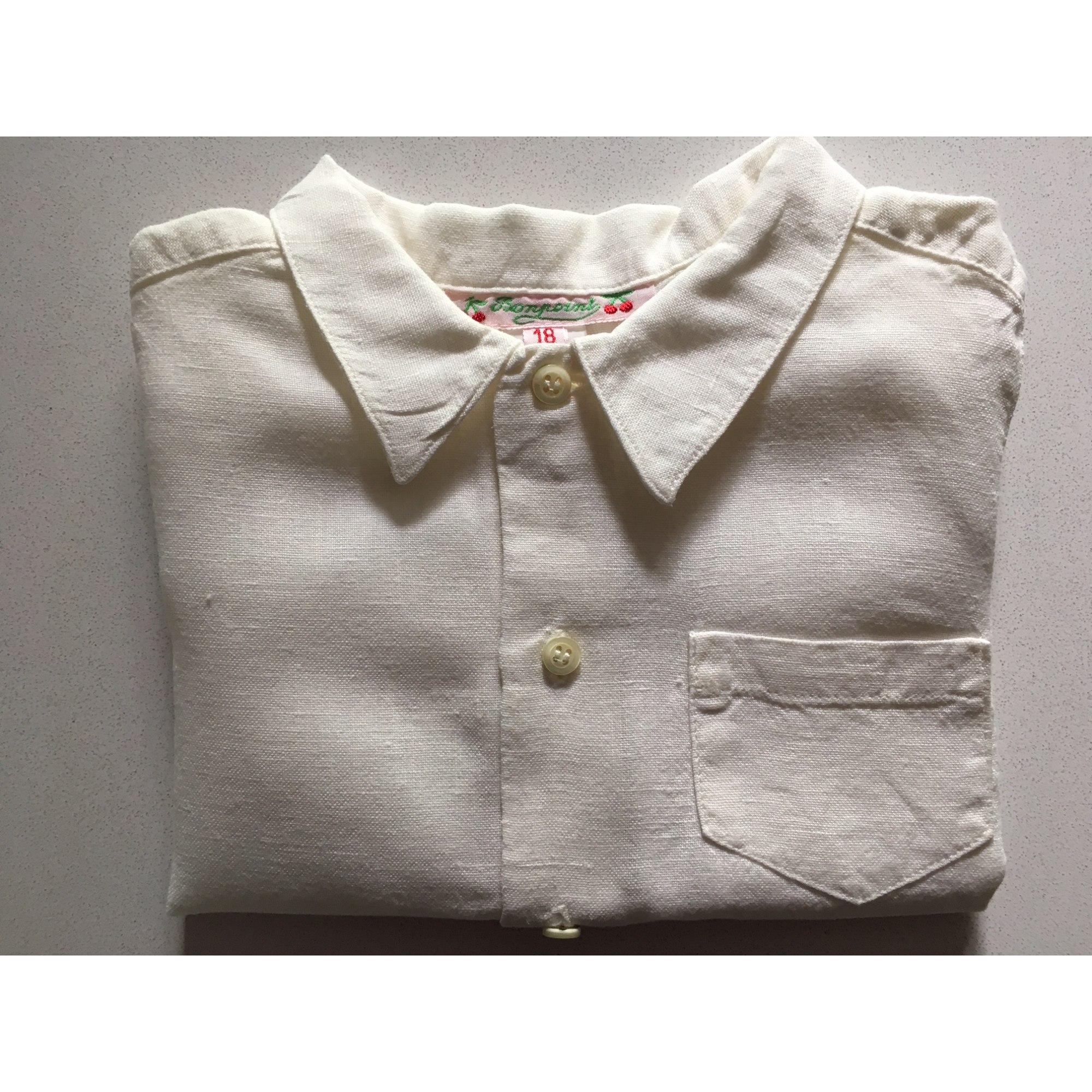 Chemisier, chemisette BONPOINT Blanc, blanc cassé, écru