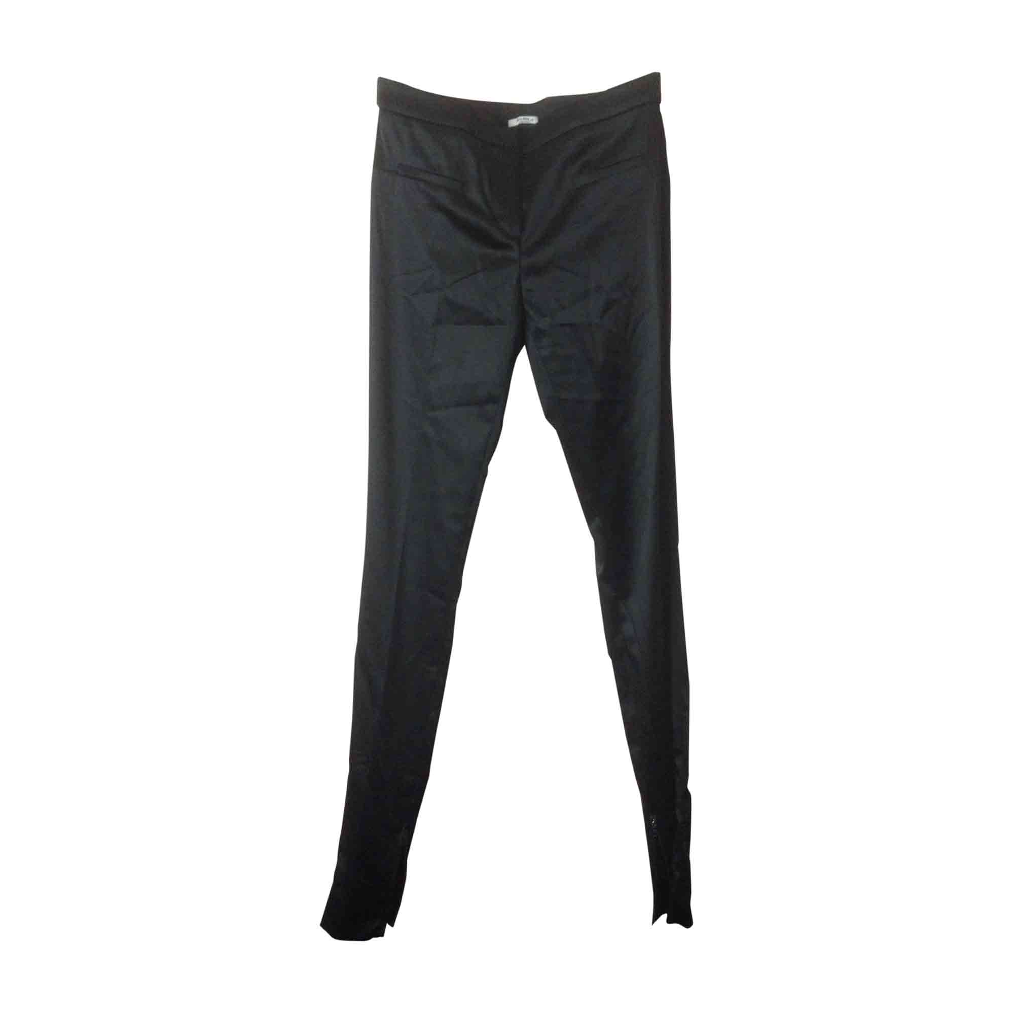 Pantalon slim, cigarette MIU MIU Noir