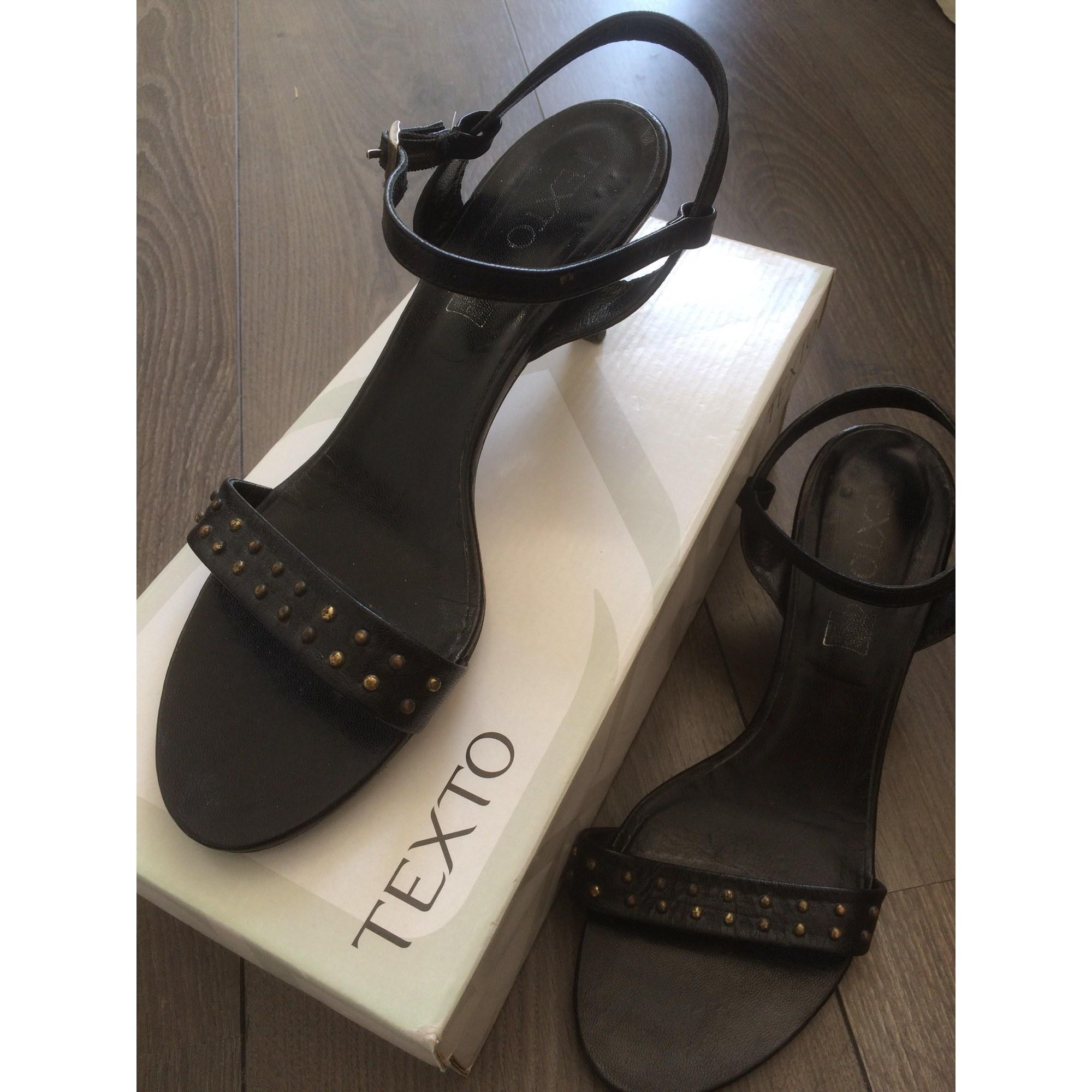 Sandales à talons TEXTO Noir