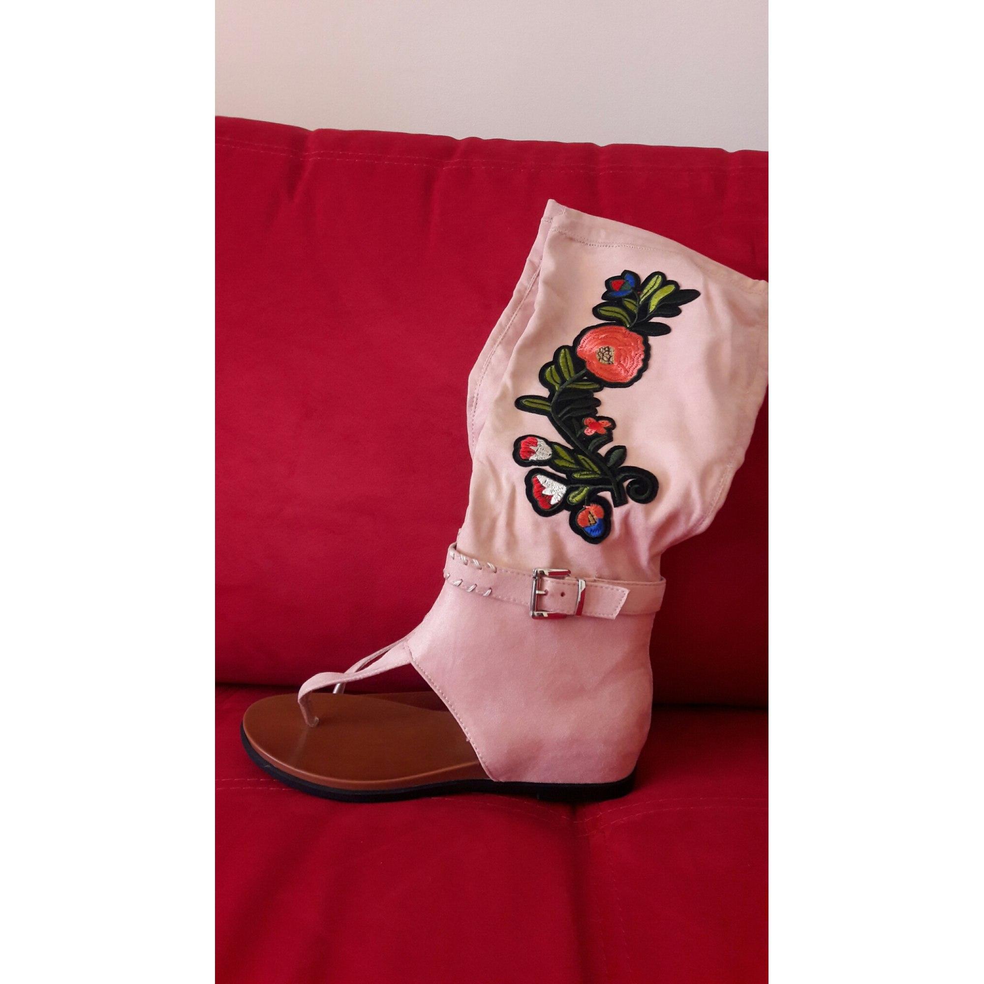 Sandales plates  NIO NIO Rose, fuschia, vieux rose