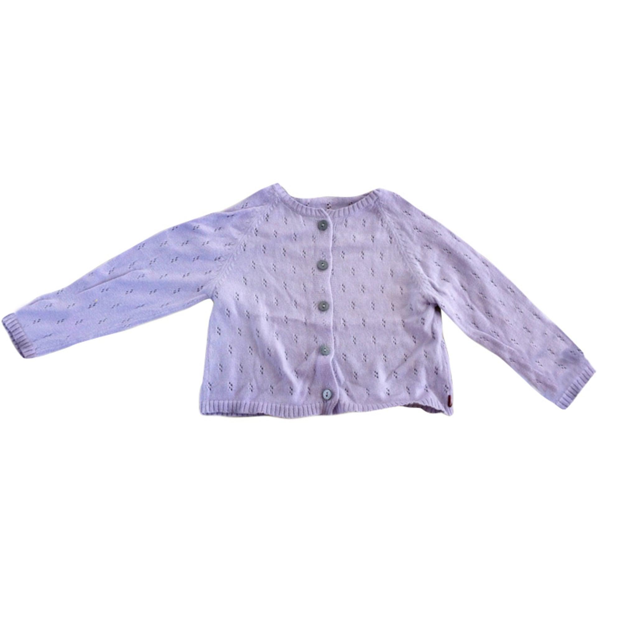 Gilet, cardigan PETIT BATEAU Violet, mauve, lavande