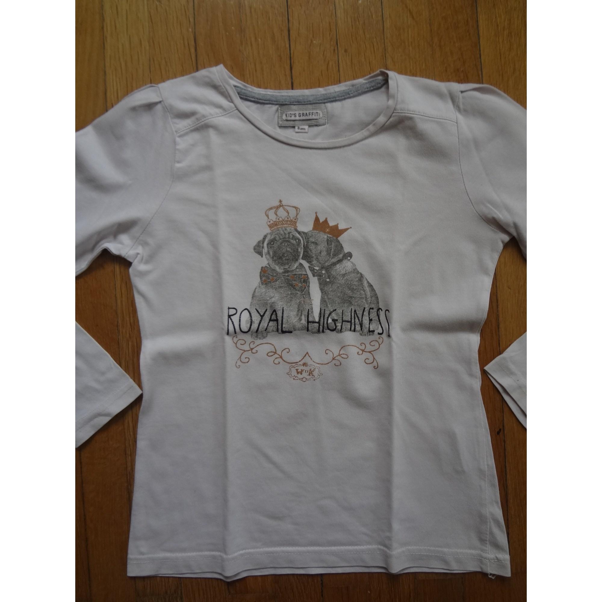 Top, Tee-shirt KID'S GRAFFITI Rose, fuschia, vieux rose