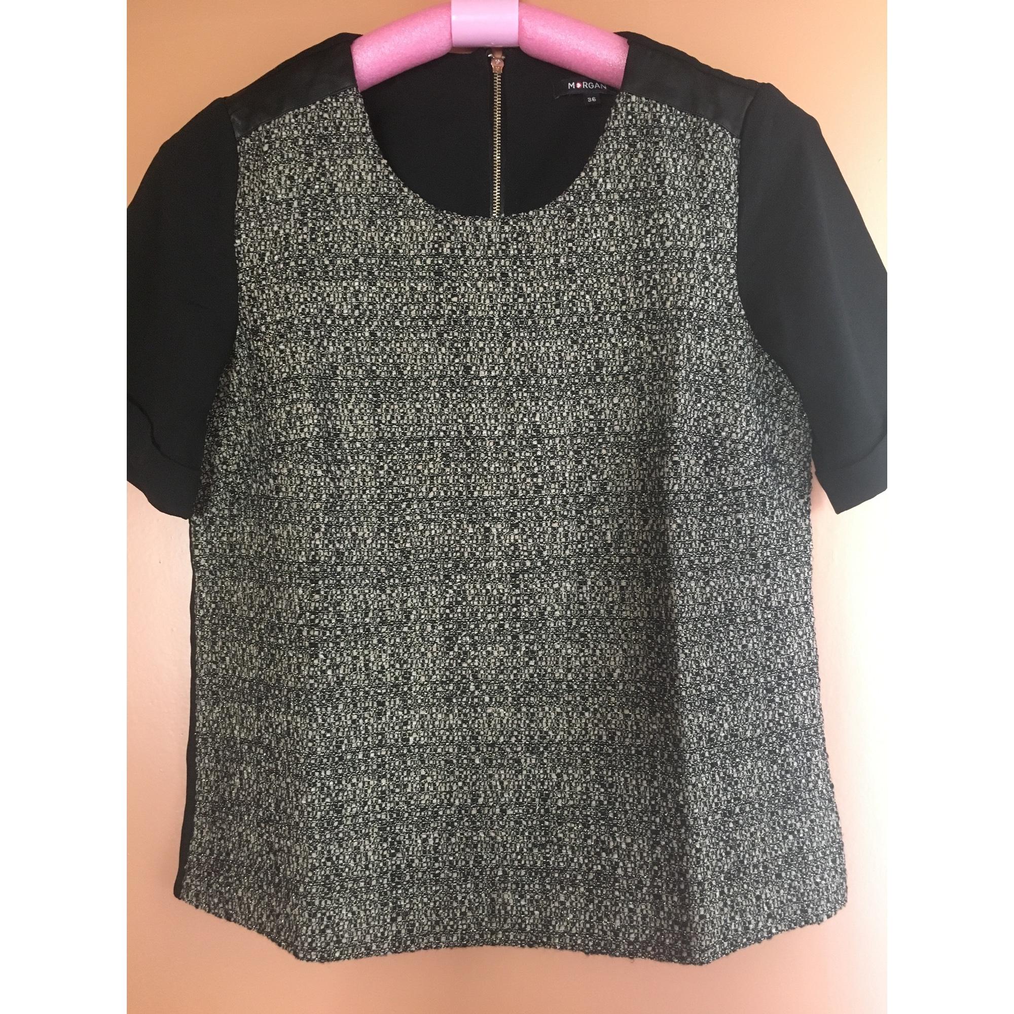 Top, tee-shirt MORGAN Noir