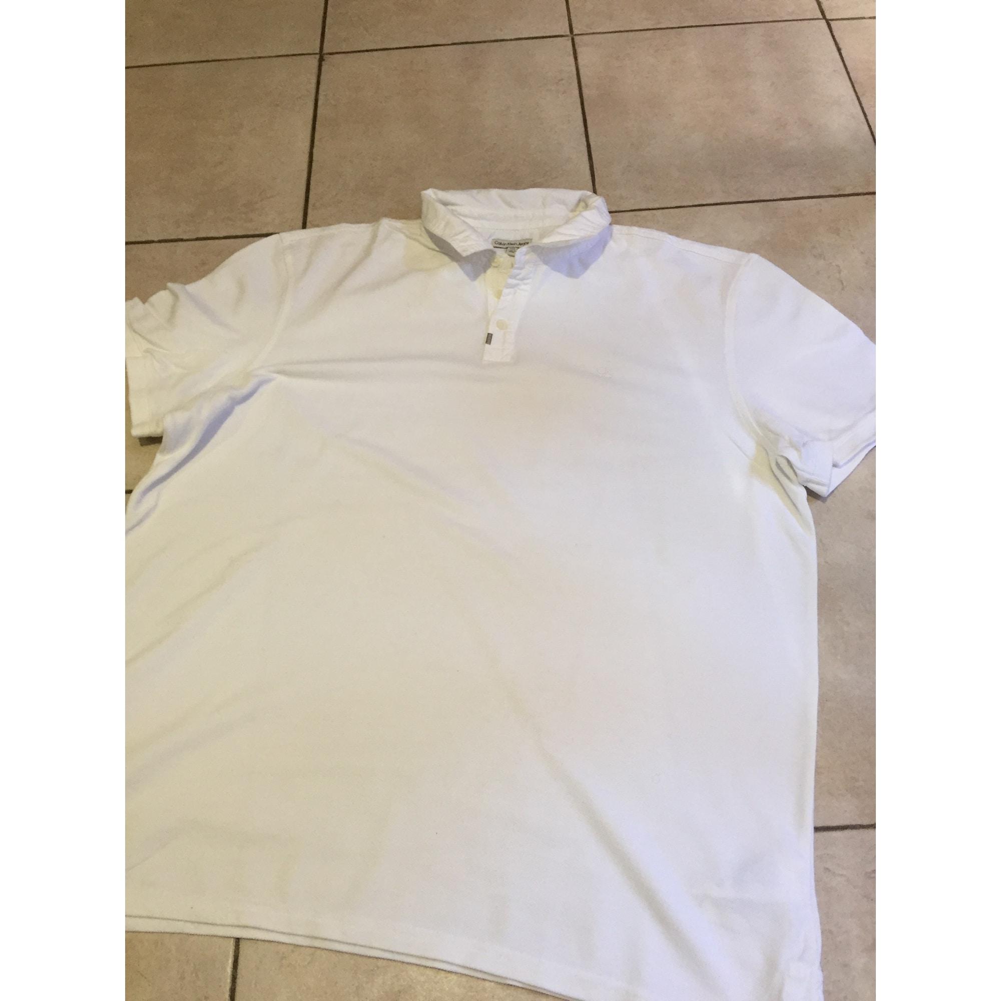 Polo CALVIN KLEIN Blanc, blanc cassé, écru