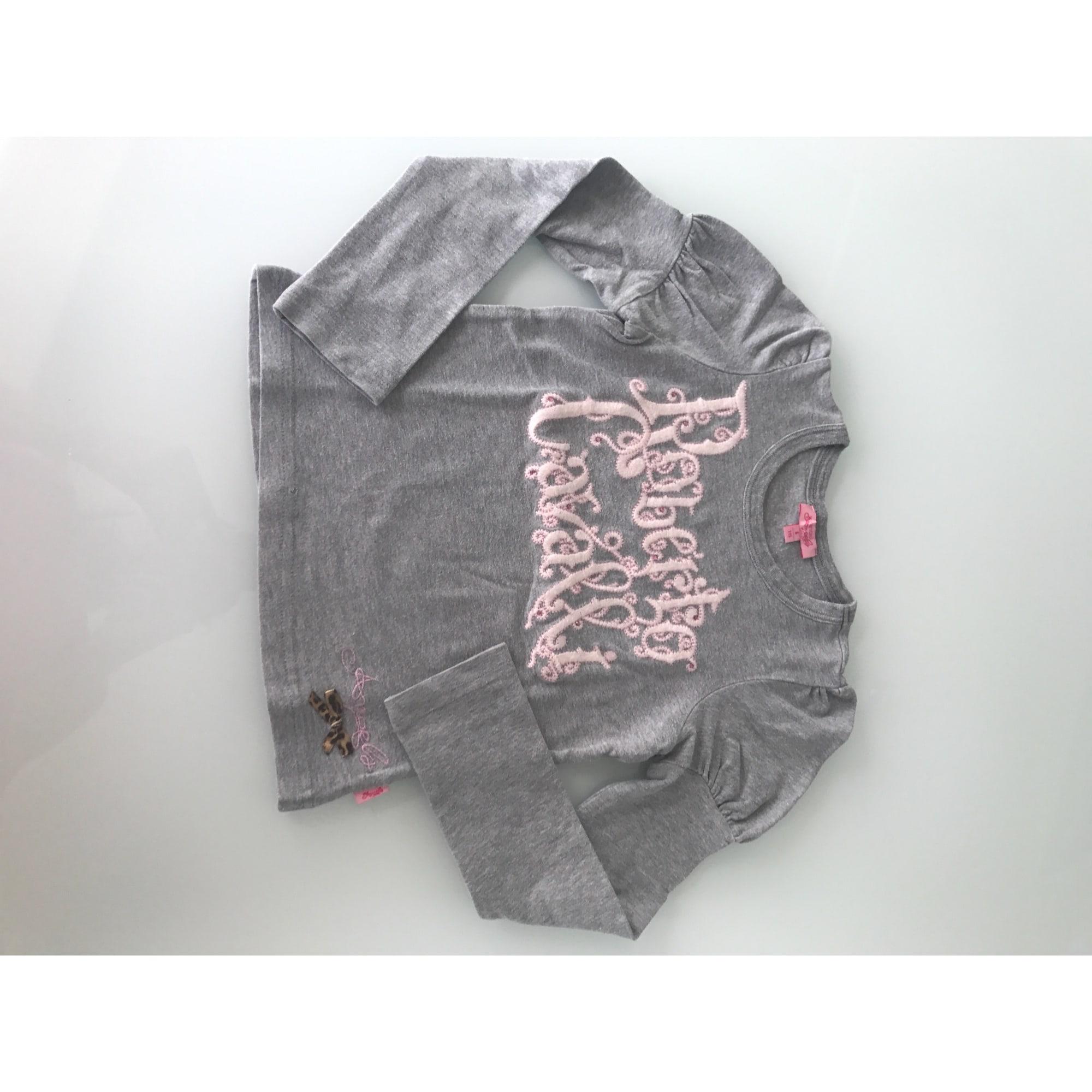 Top, Tee-shirt ROBERTO CAVALLI Gris, anthracite