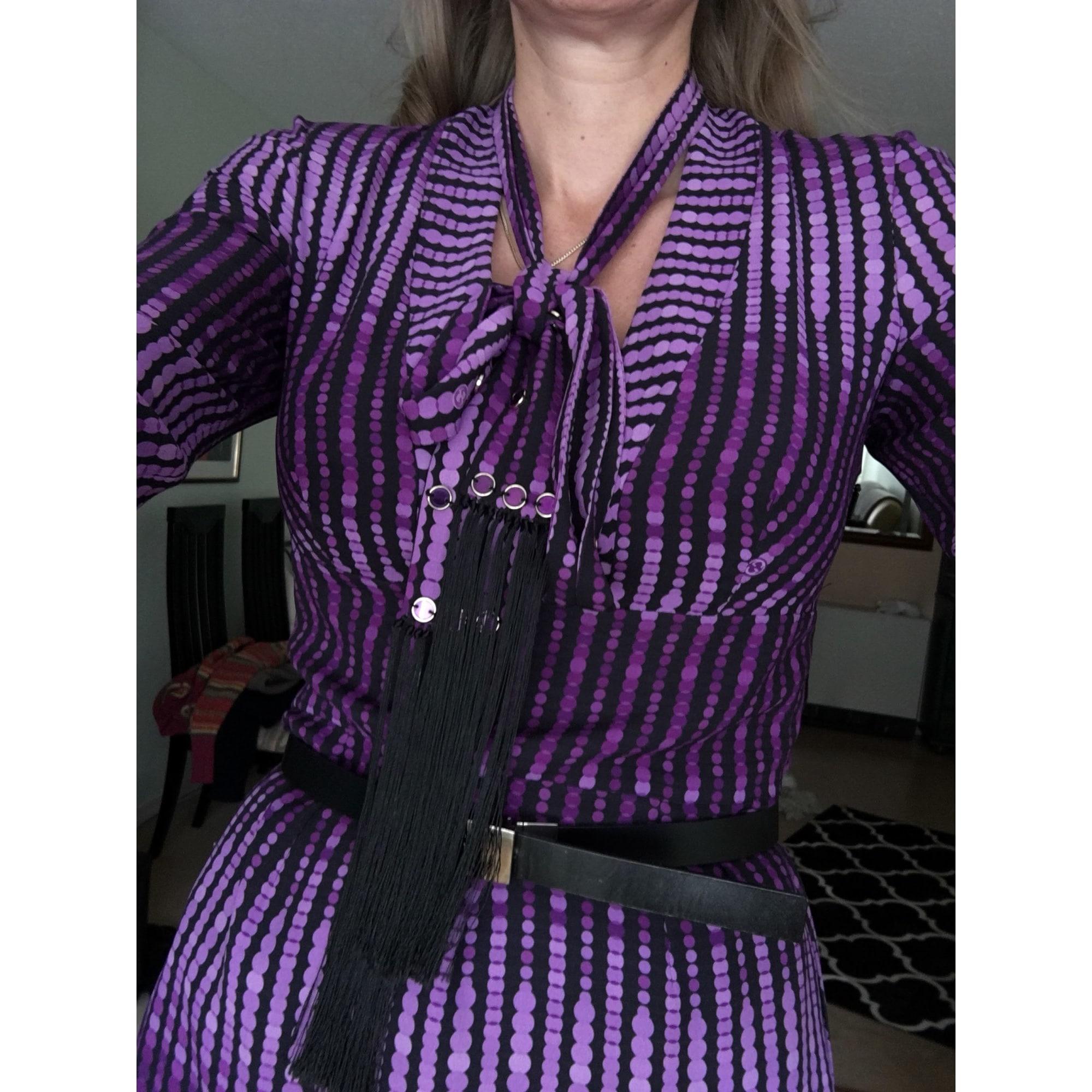 Robe courte GUCCI Violet, mauve, lavande
