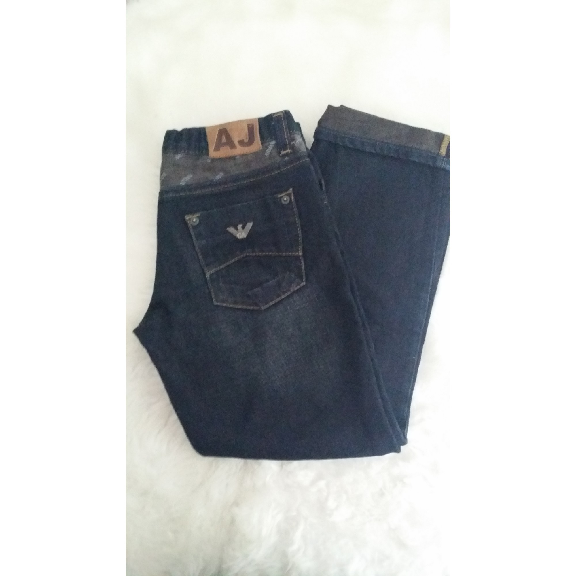 Pantalon ARMANI Bleu, bleu marine, bleu turquoise