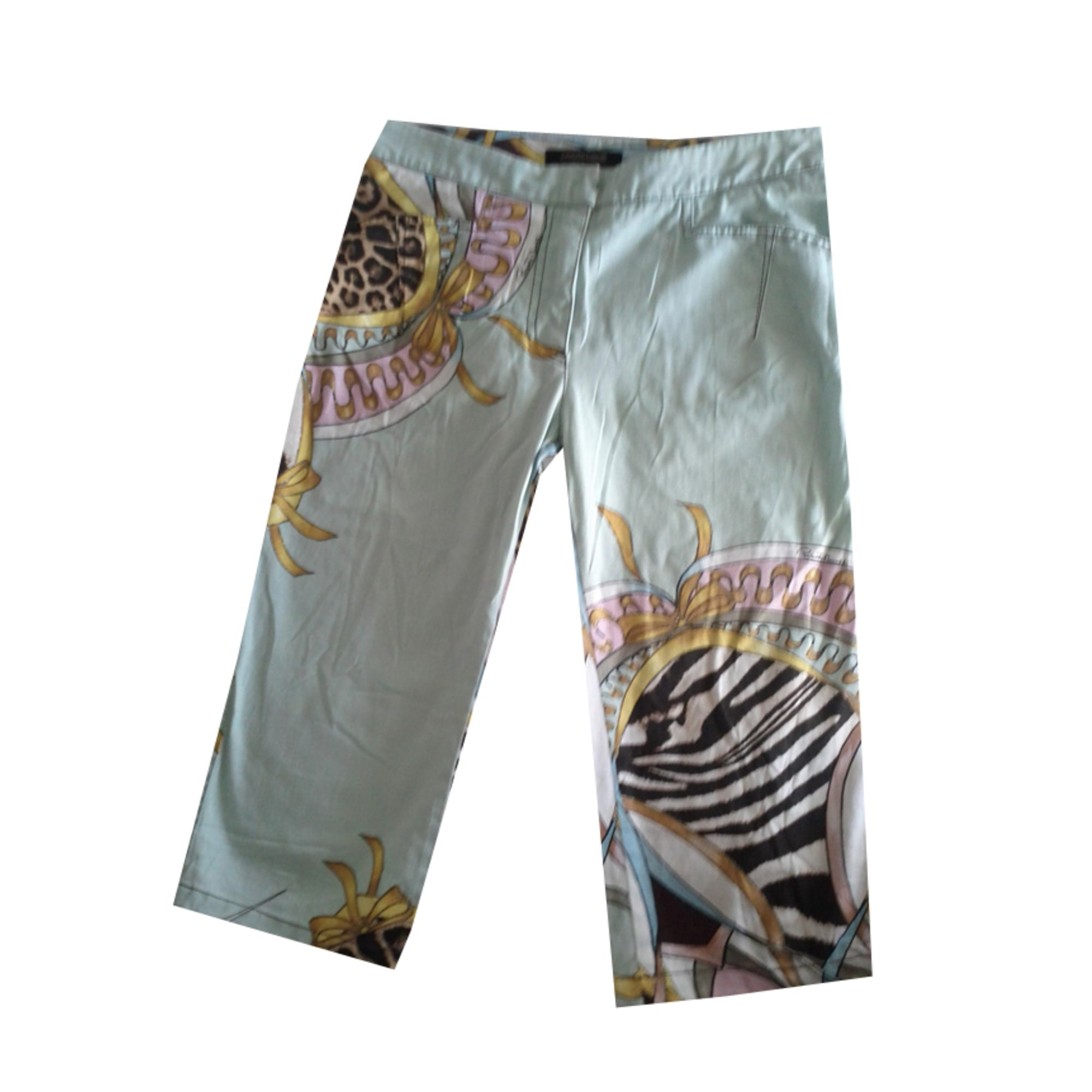 Pantalon slim, cigarette ROBERTO CAVALLI Imprimés animaliers
