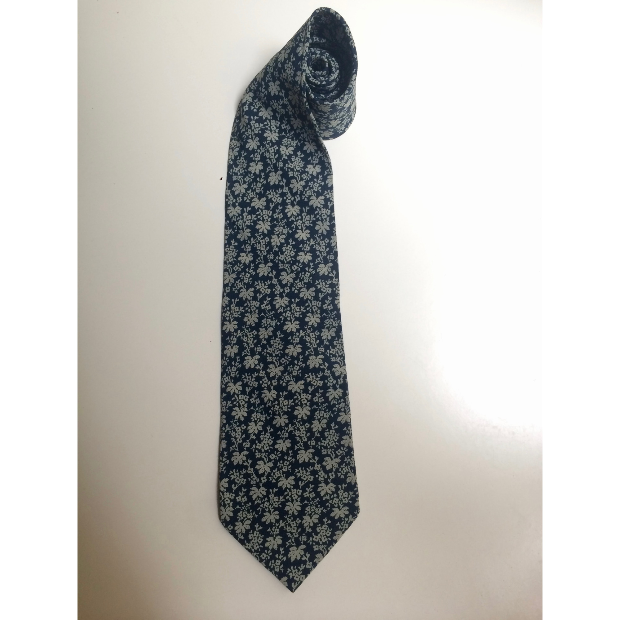 Cravate GIORGIO ARMANI Bleu, bleu marine, bleu turquoise