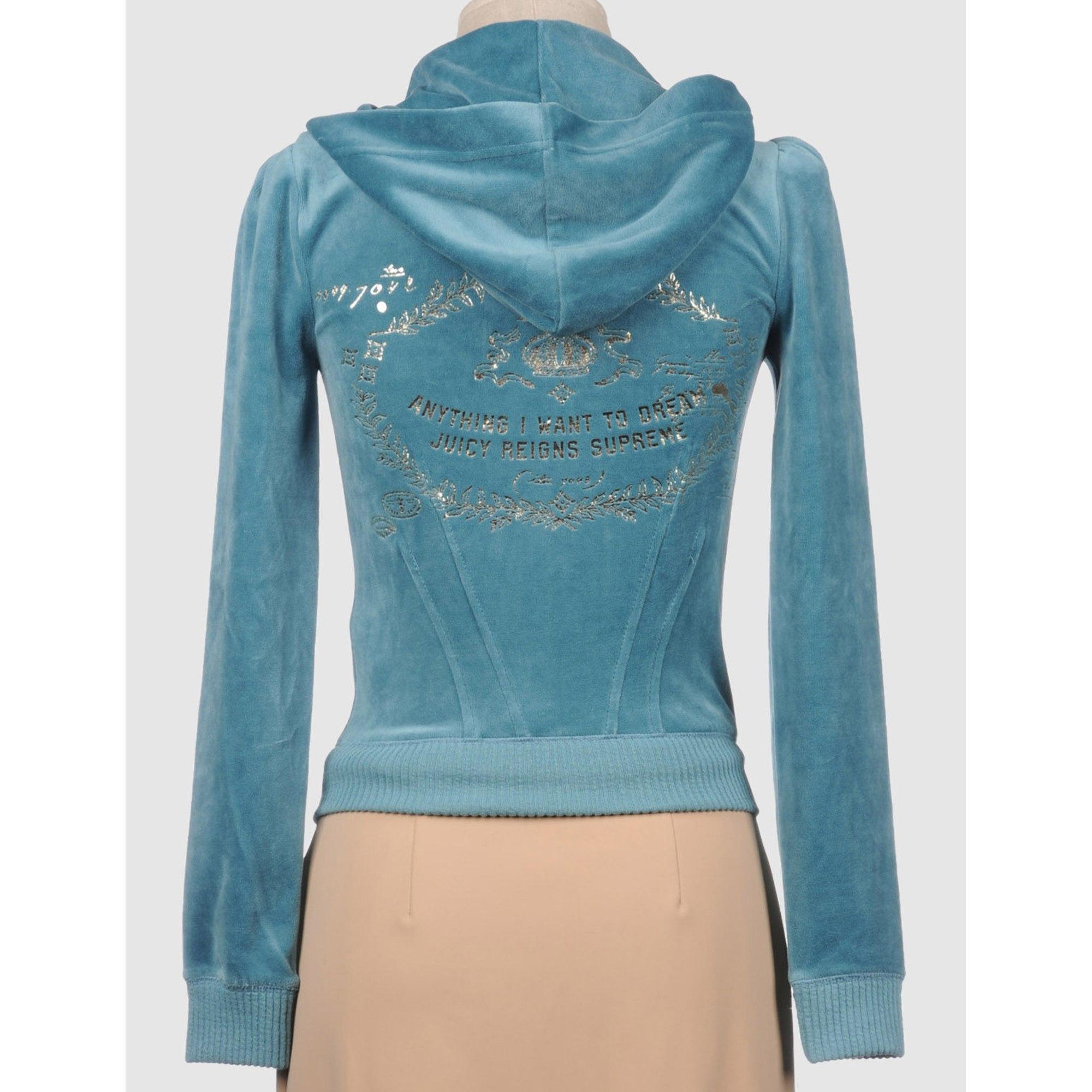 Sweat JUICY COUTURE Bleu, bleu marine, bleu turquoise