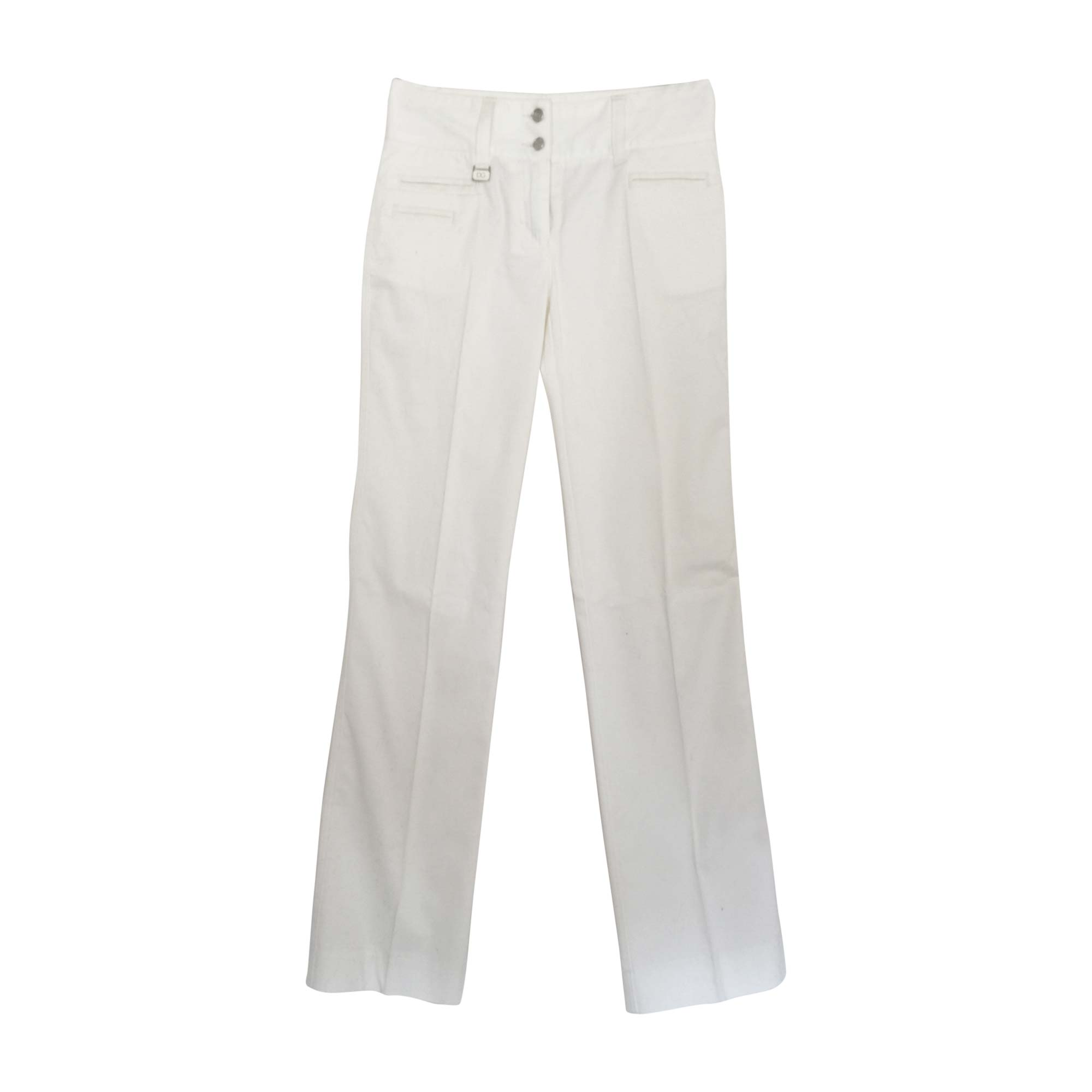 Jeans très evasé, patte d'éléphant DOLCE & GABBANA Blanc, blanc cassé, écru