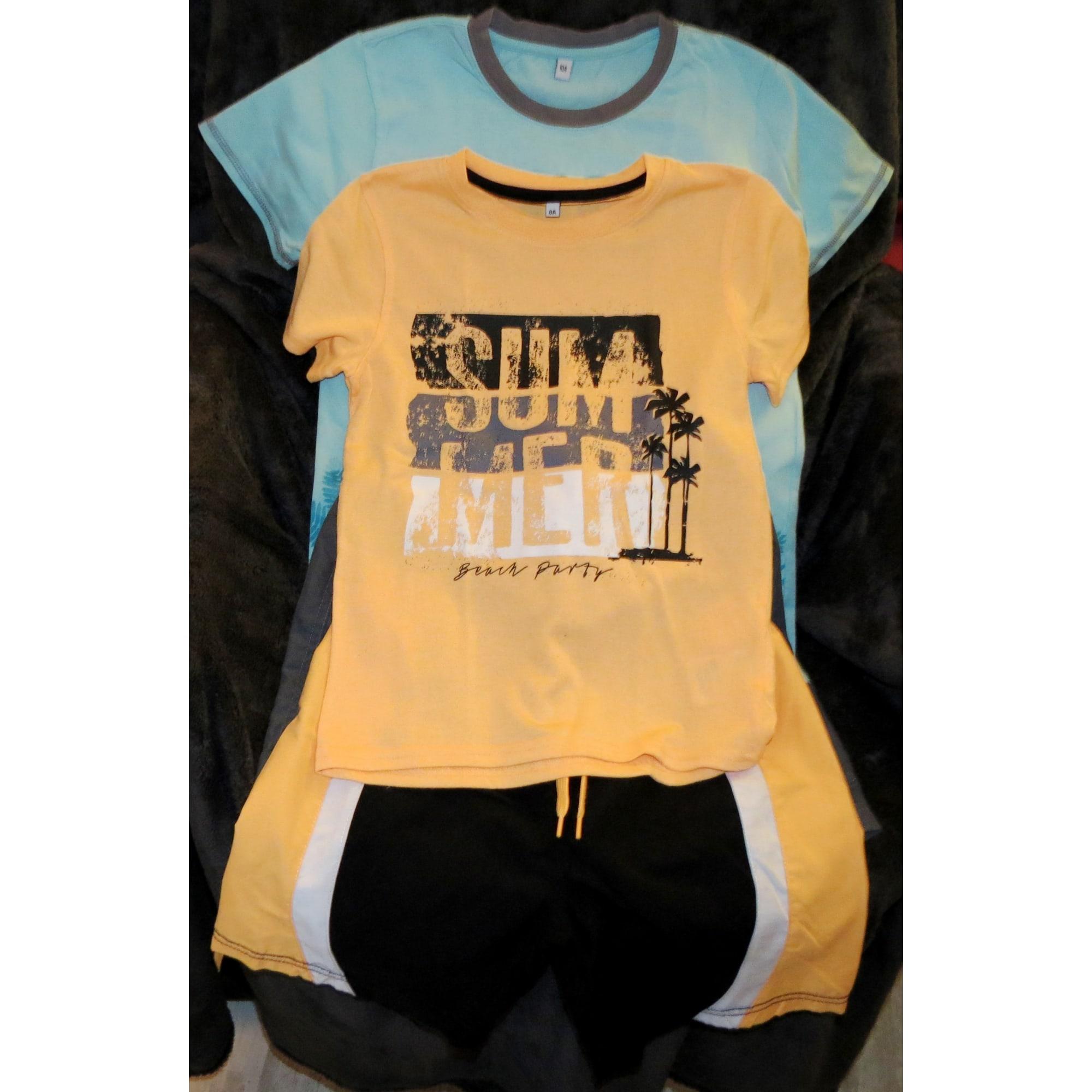 Shorts Set, Outfit MARQUE INCONNUE Orange