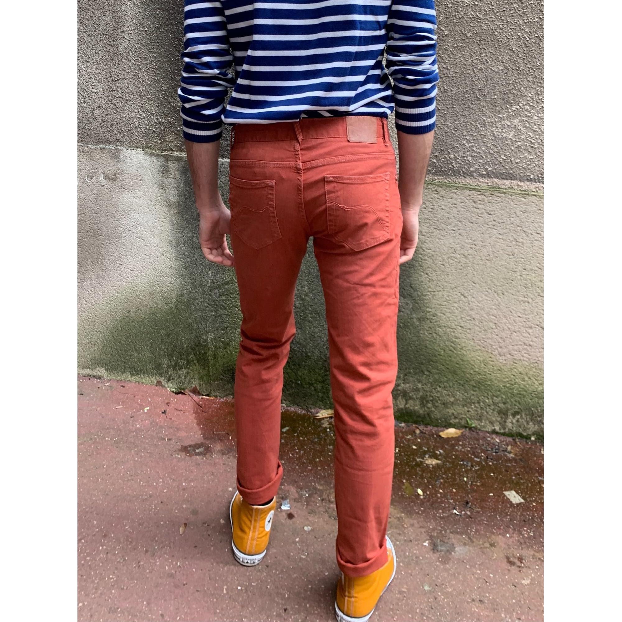 Jeans slim PULL & BEAR Rouge, bordeaux