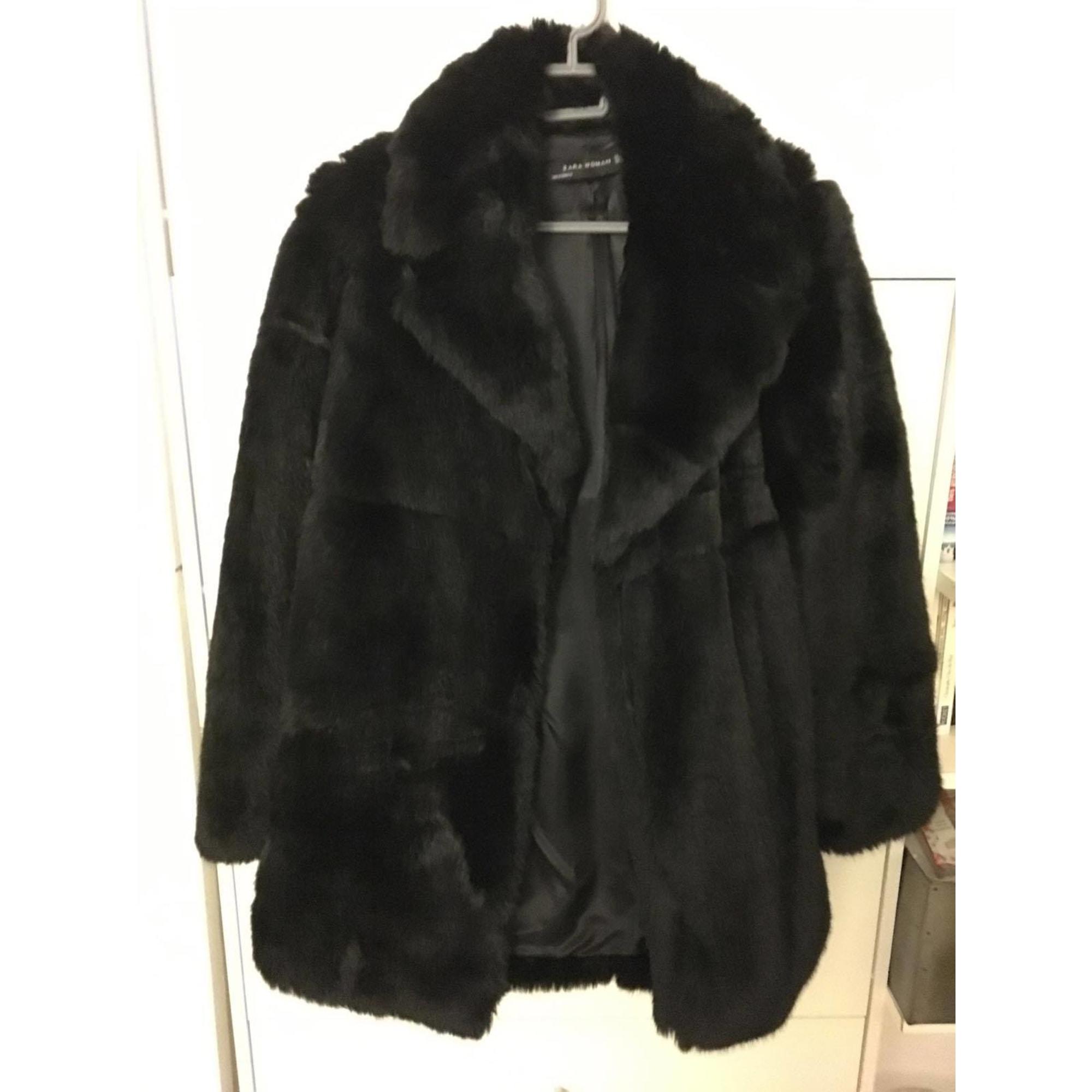 ZARA manteau en fausse fourrure: : Vêtements et