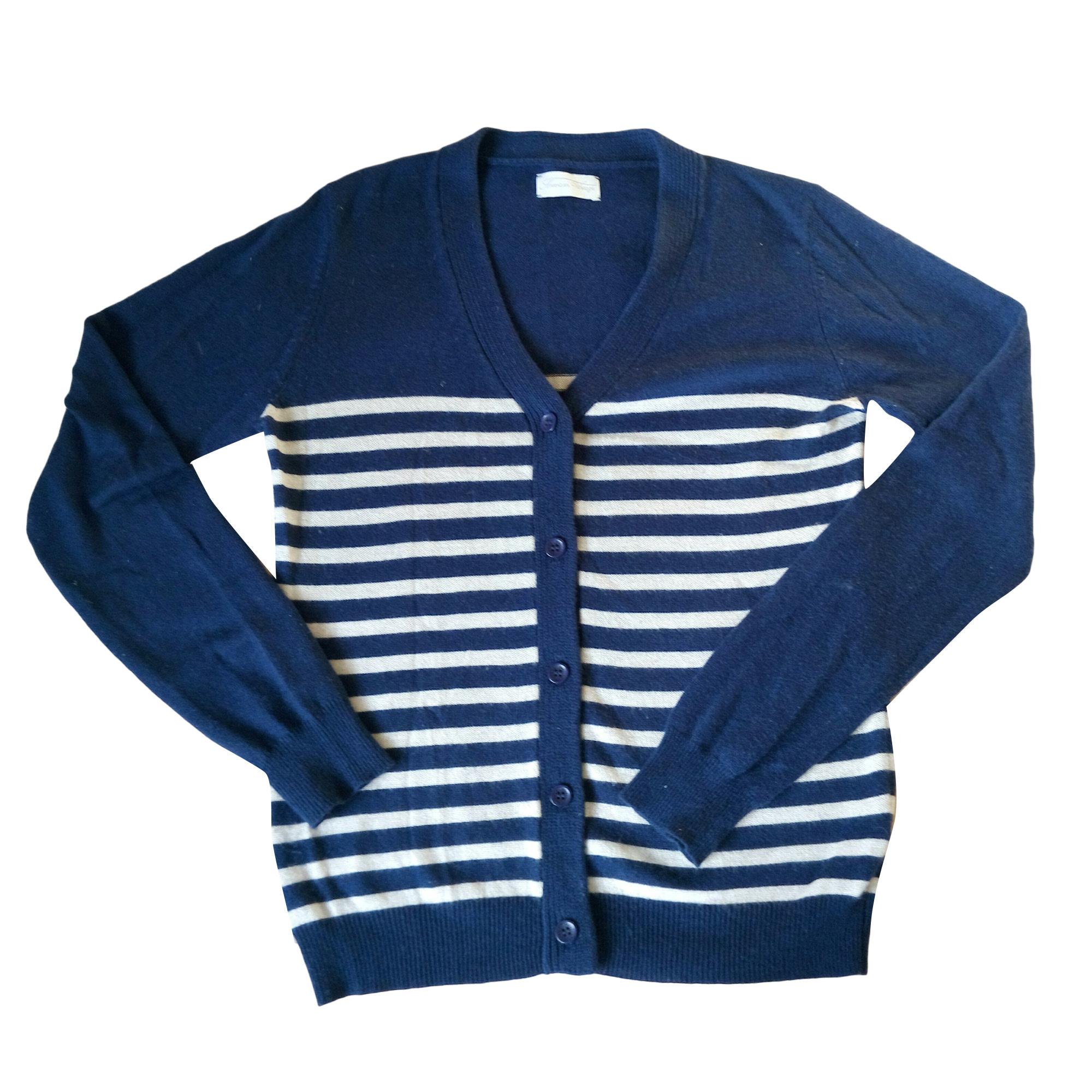 Gilet, cardigan AMERICAN VINTAGE Bleu, bleu marine, bleu turquoise