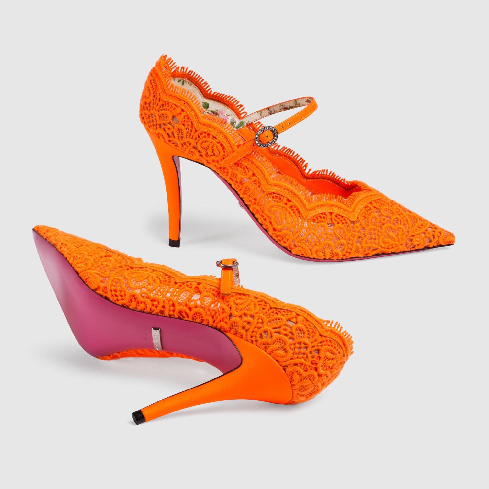 Escarpins GUCCI Orange