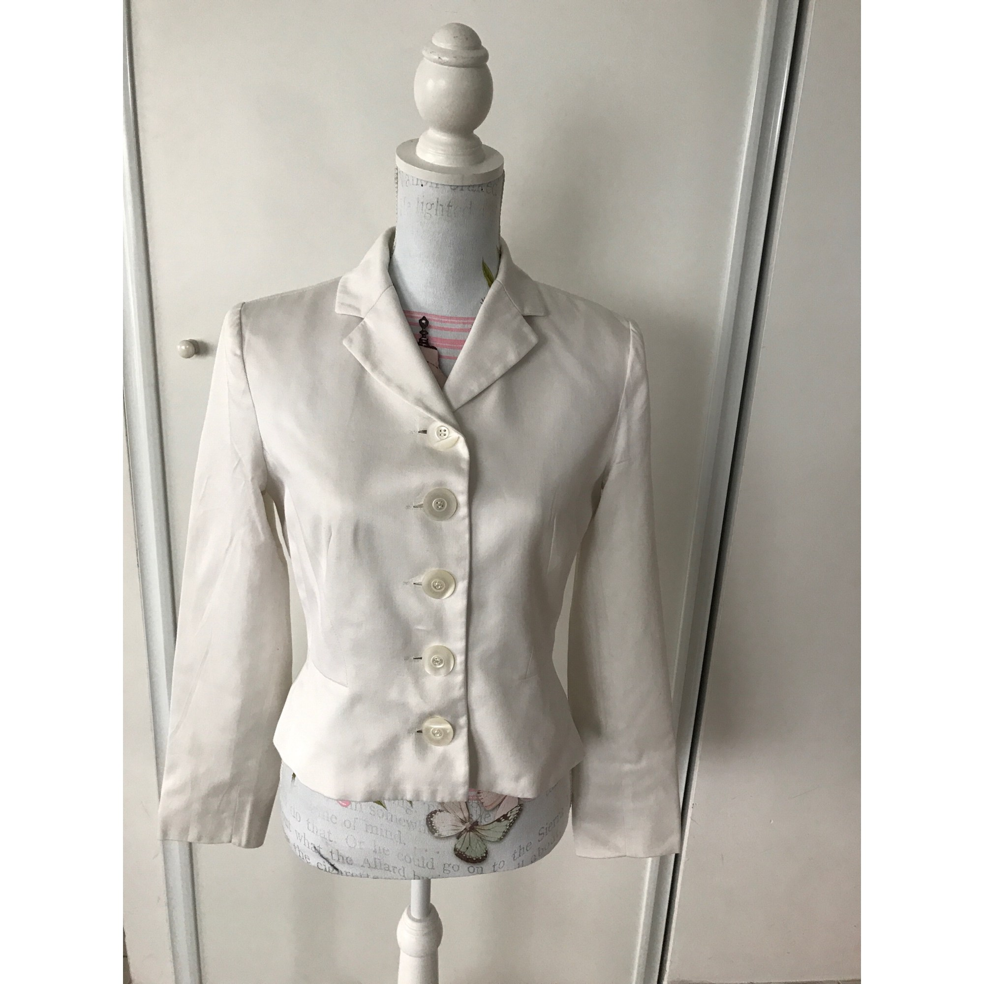 Blazer, veste tailleur TARA JARMON Blanc, blanc cassé, écru