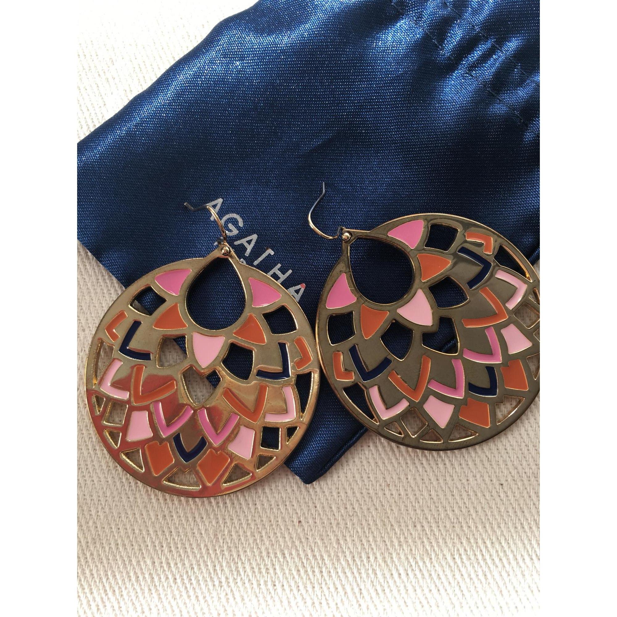 Boucles d'oreille AGATHA Doré, bronze, cuivre