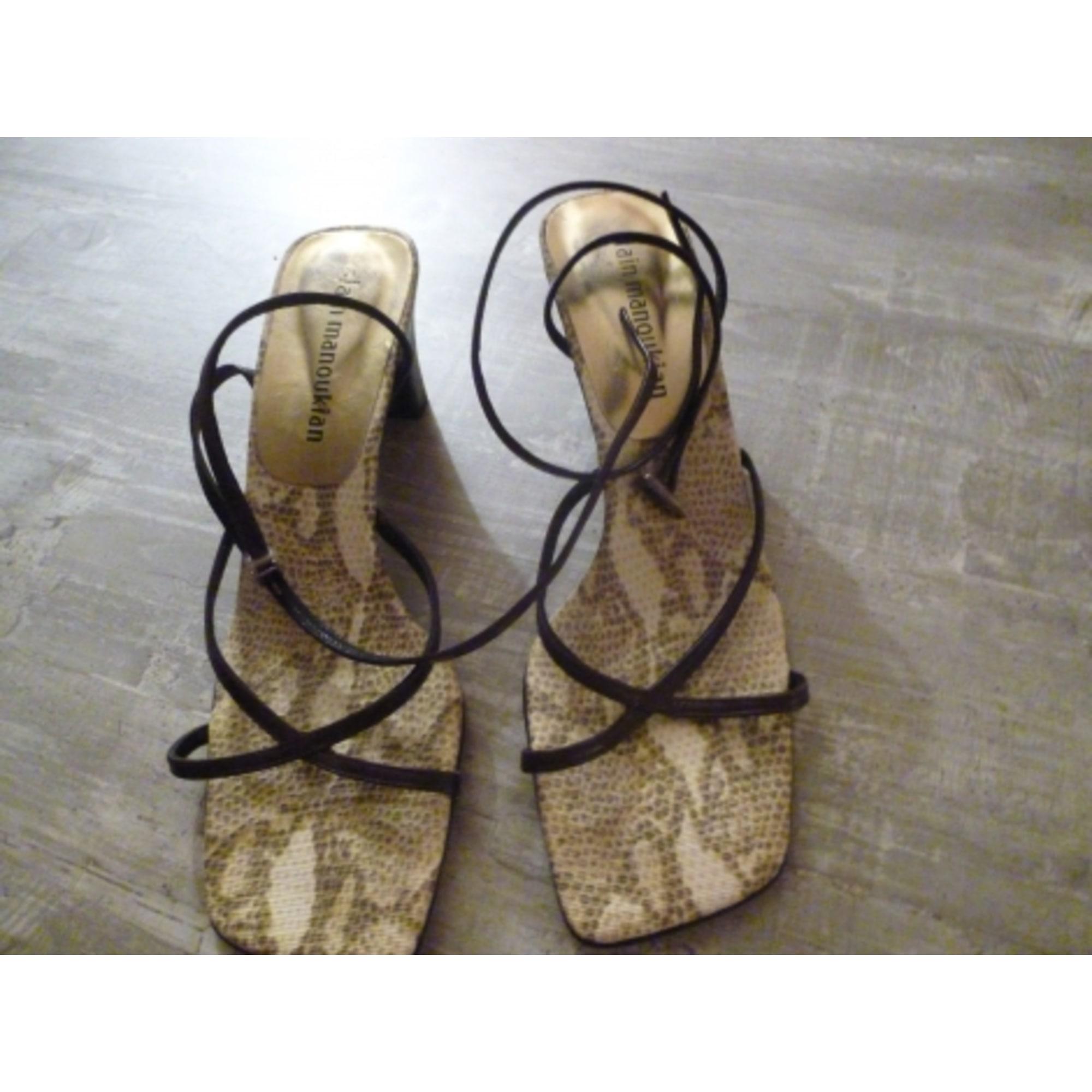 Sandales à talons ALAIN MANOUKIAN Marron