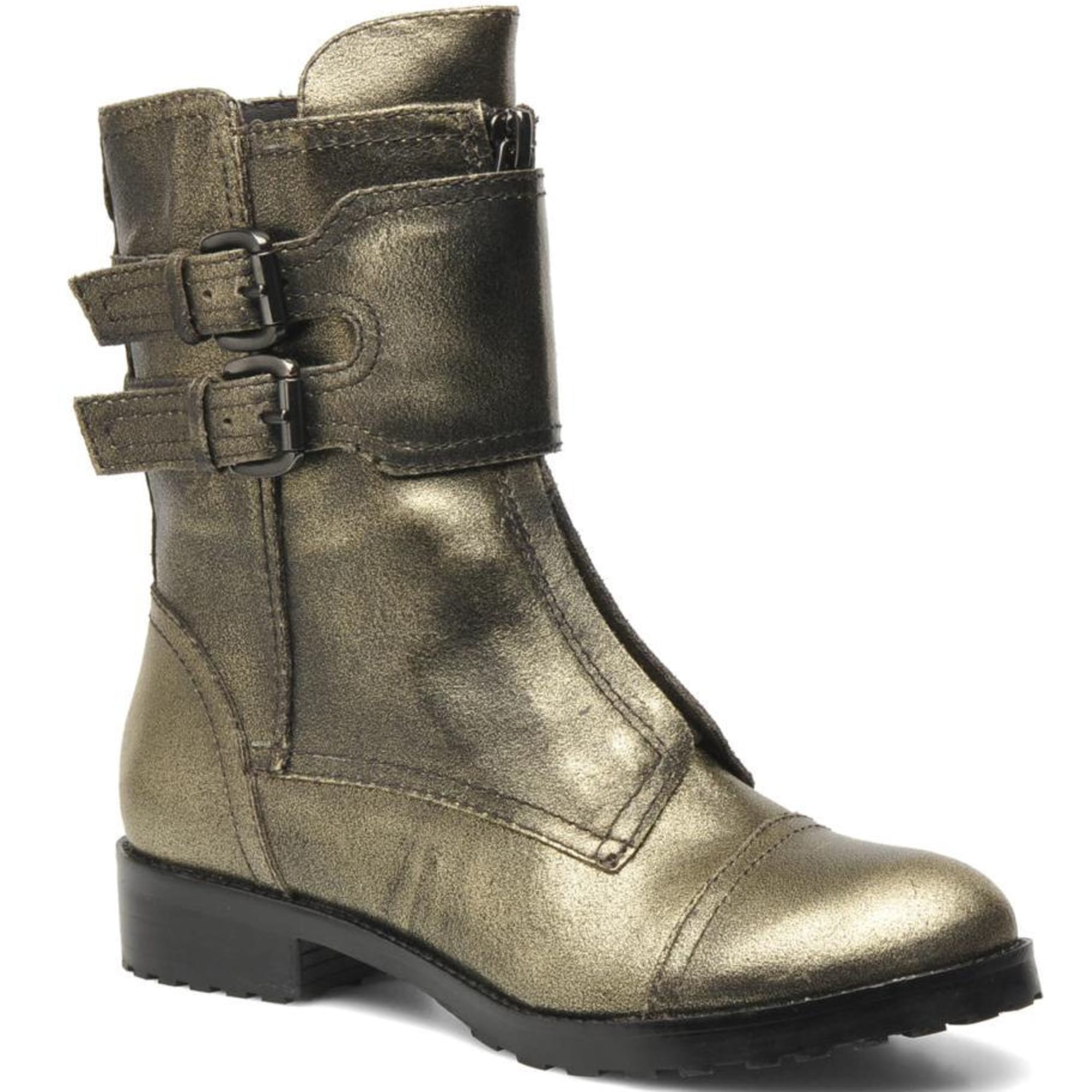 Bottines & low boots motards GUESS Doré, bronze, cuivre