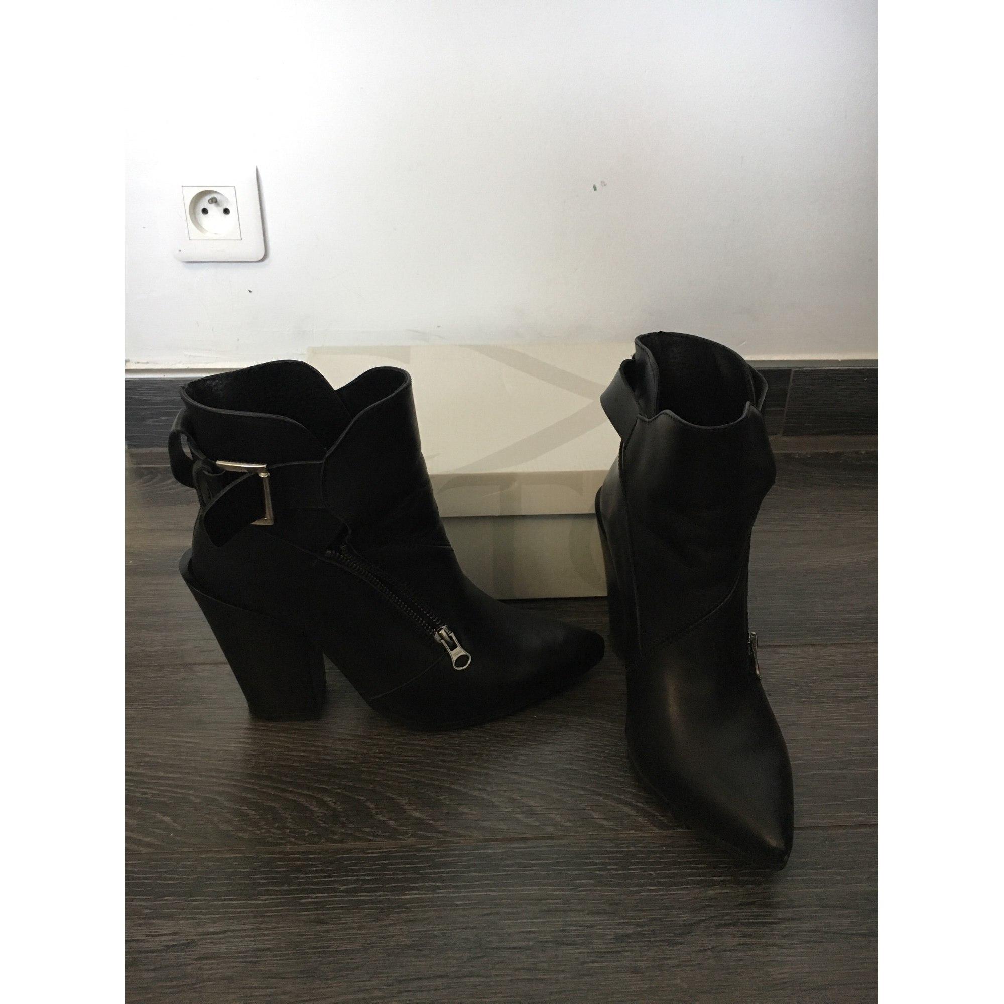 Bottines & low boots à talons TEXTO Noir