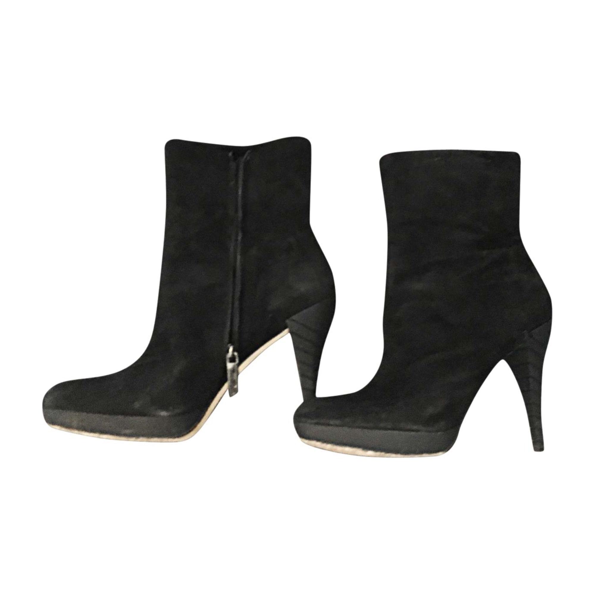Bottines & low boots à talons CALVIN KLEIN Noir