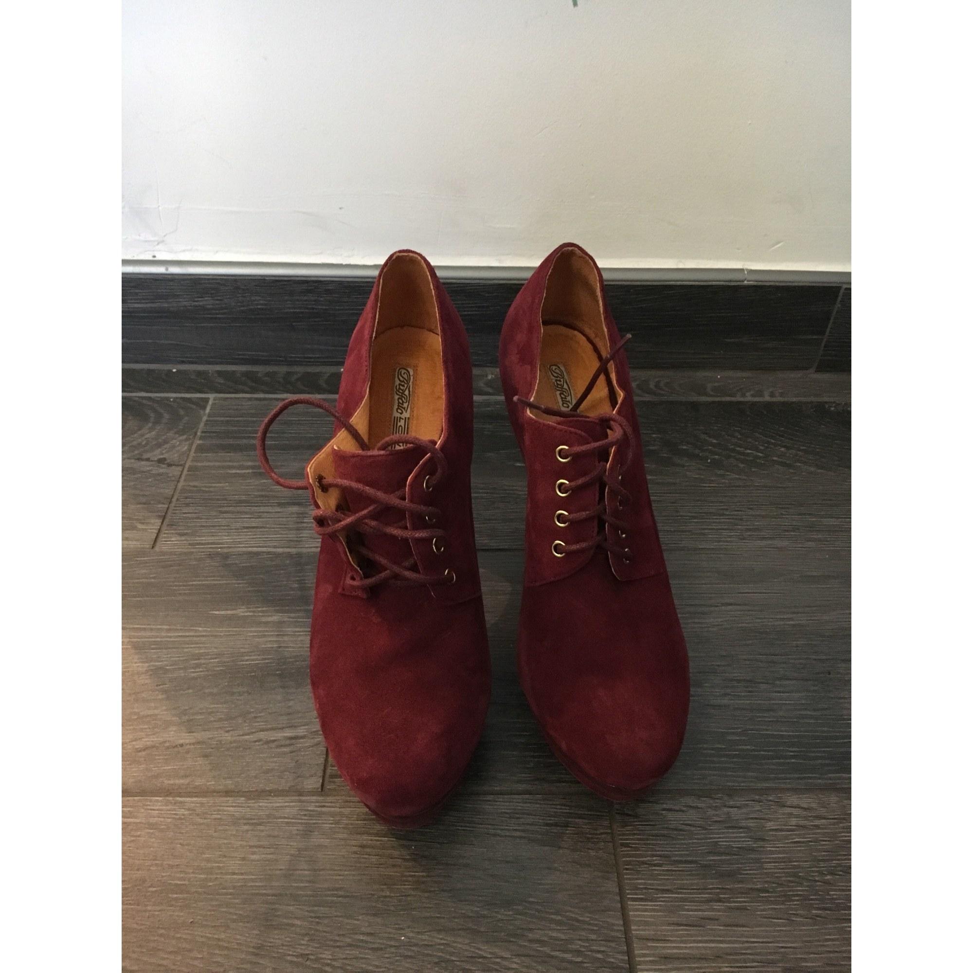 Bottines & low boots à talons BUFFALO Rouge, bordeaux
