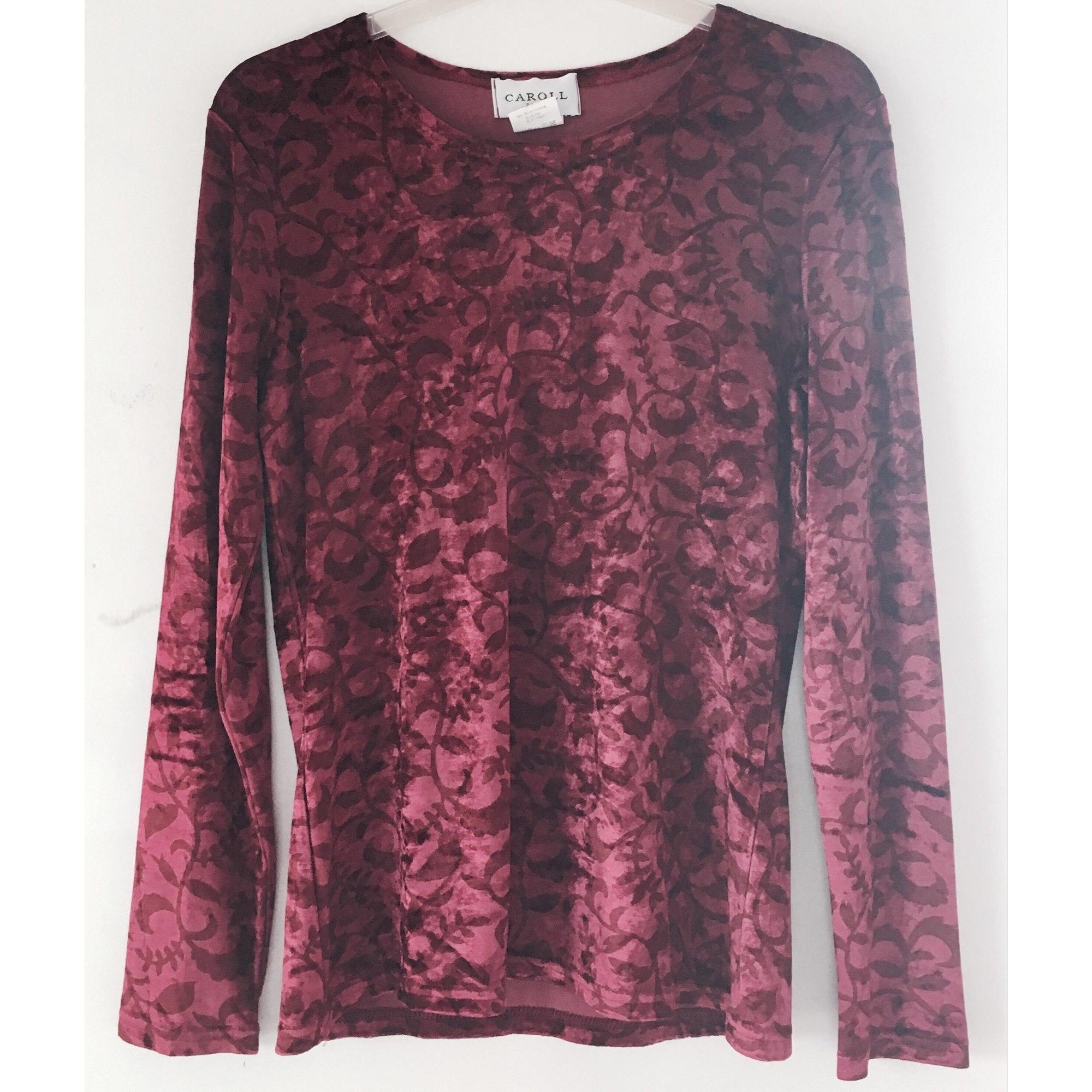 Top, tee-shirt CAROLL Rouge, bordeaux