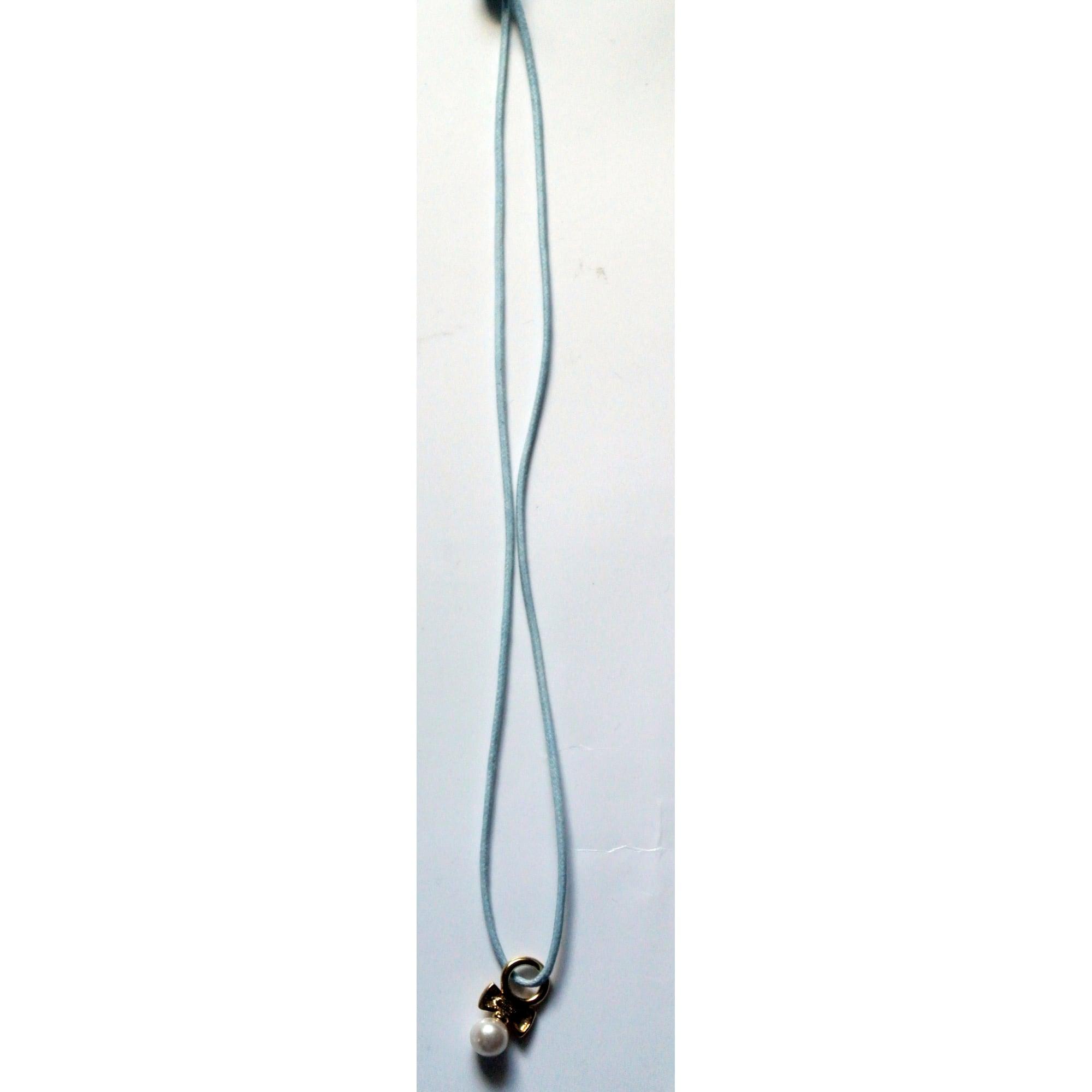 Pendentif, collier pendentif AGATHA acier doré et perle blanche
