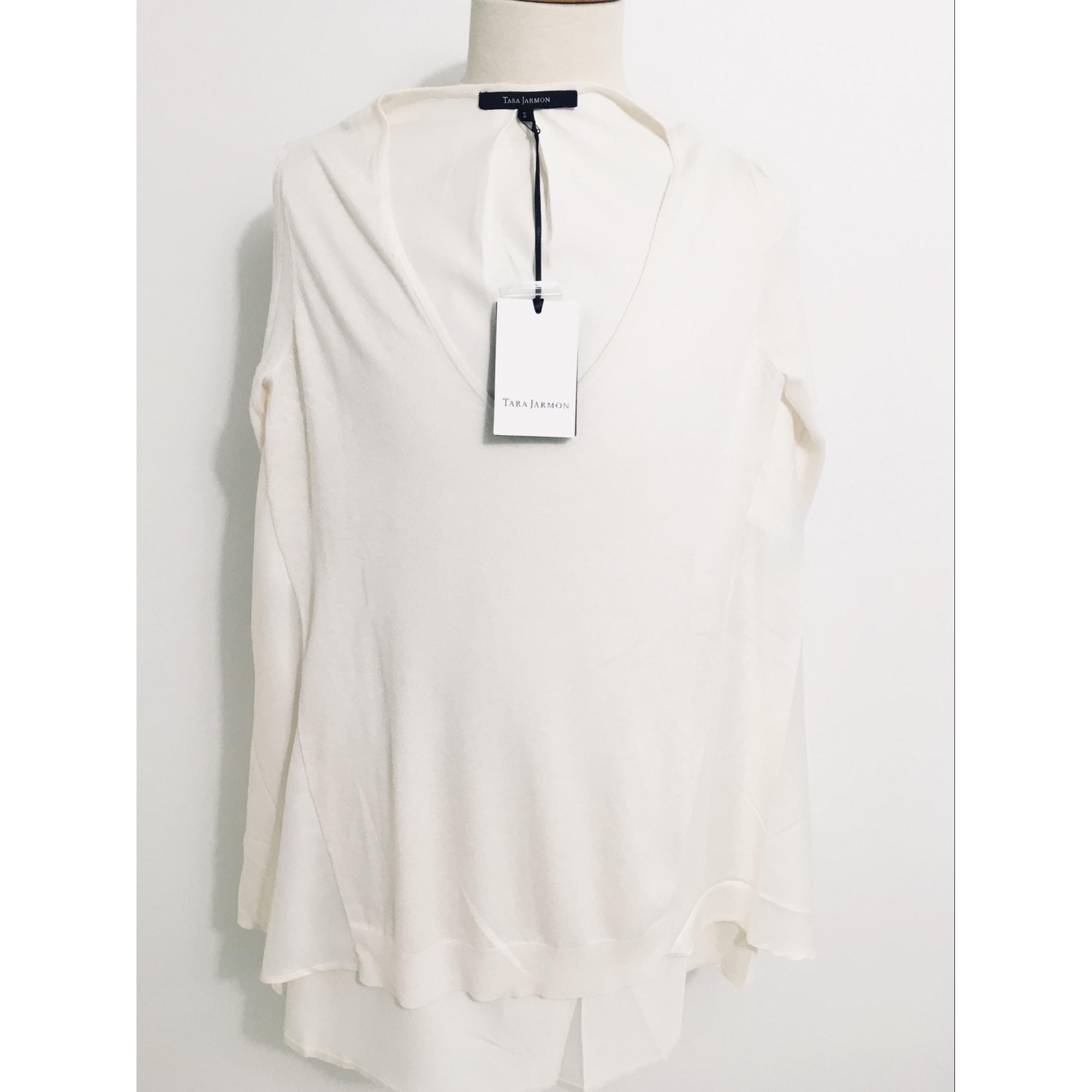 Pull tunique TARA JARMON Blanc, blanc cassé, écru