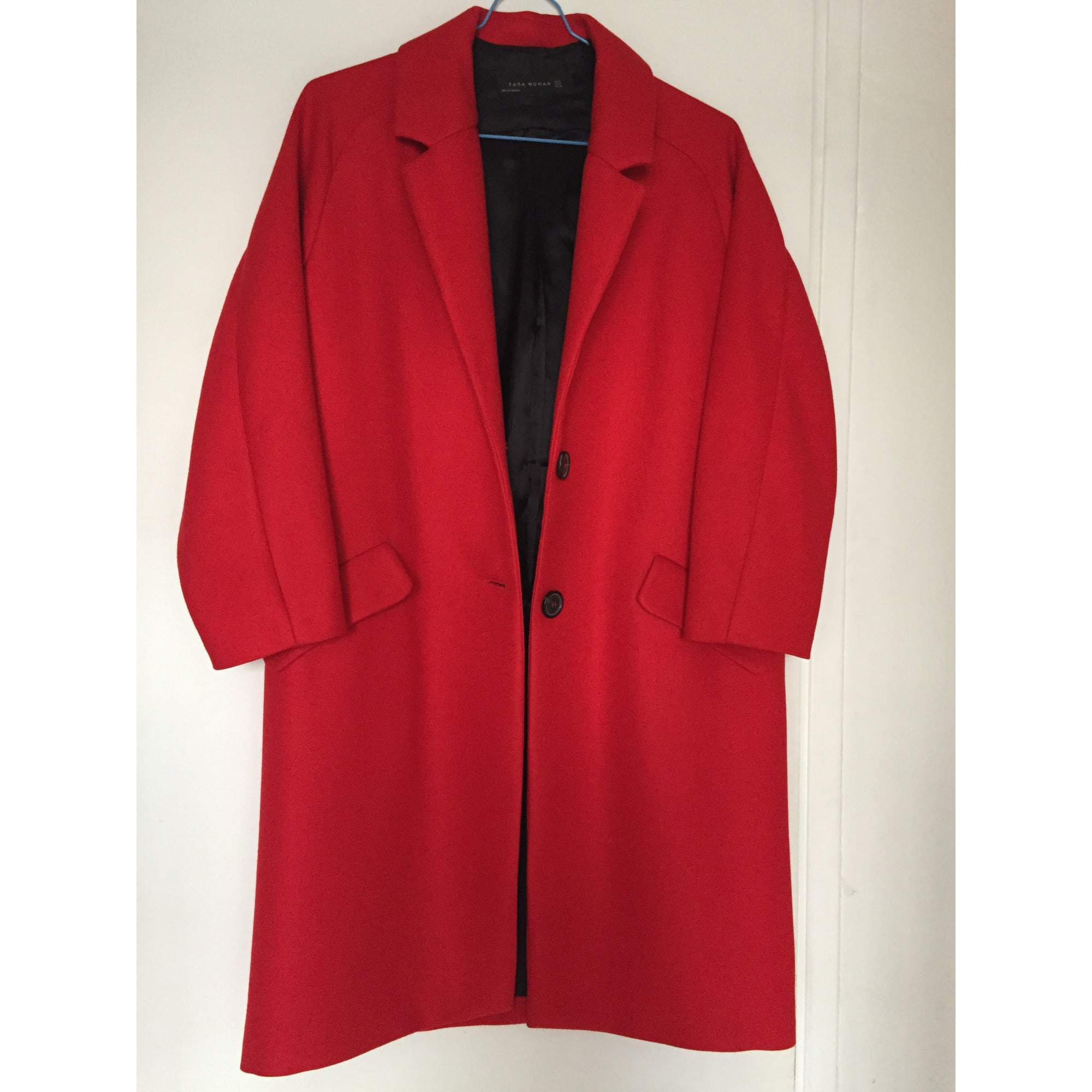 Manteau ZARA Rouge, bordeaux