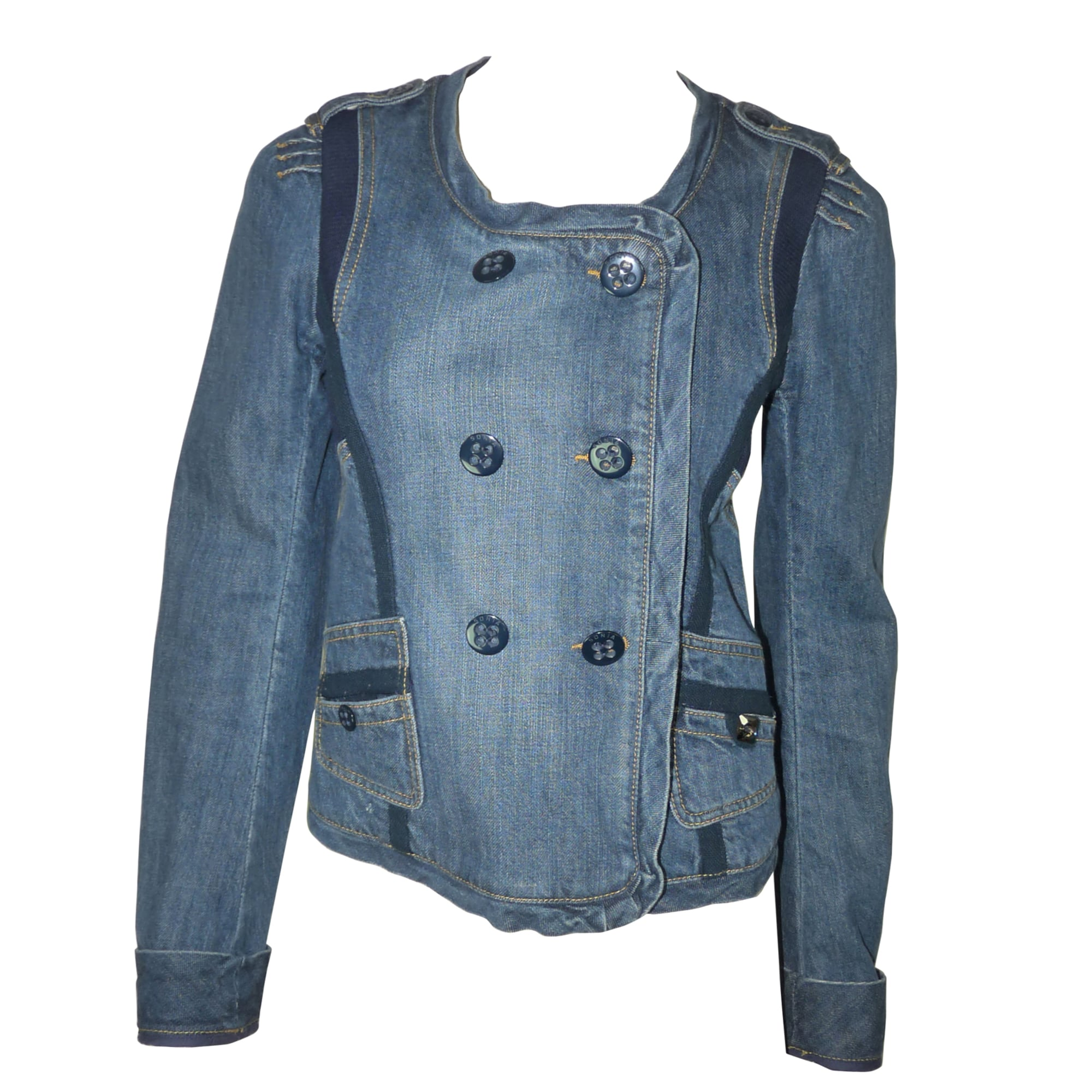 Veste en jean SONIA RYKIEL Bleu, bleu marine, bleu turquoise