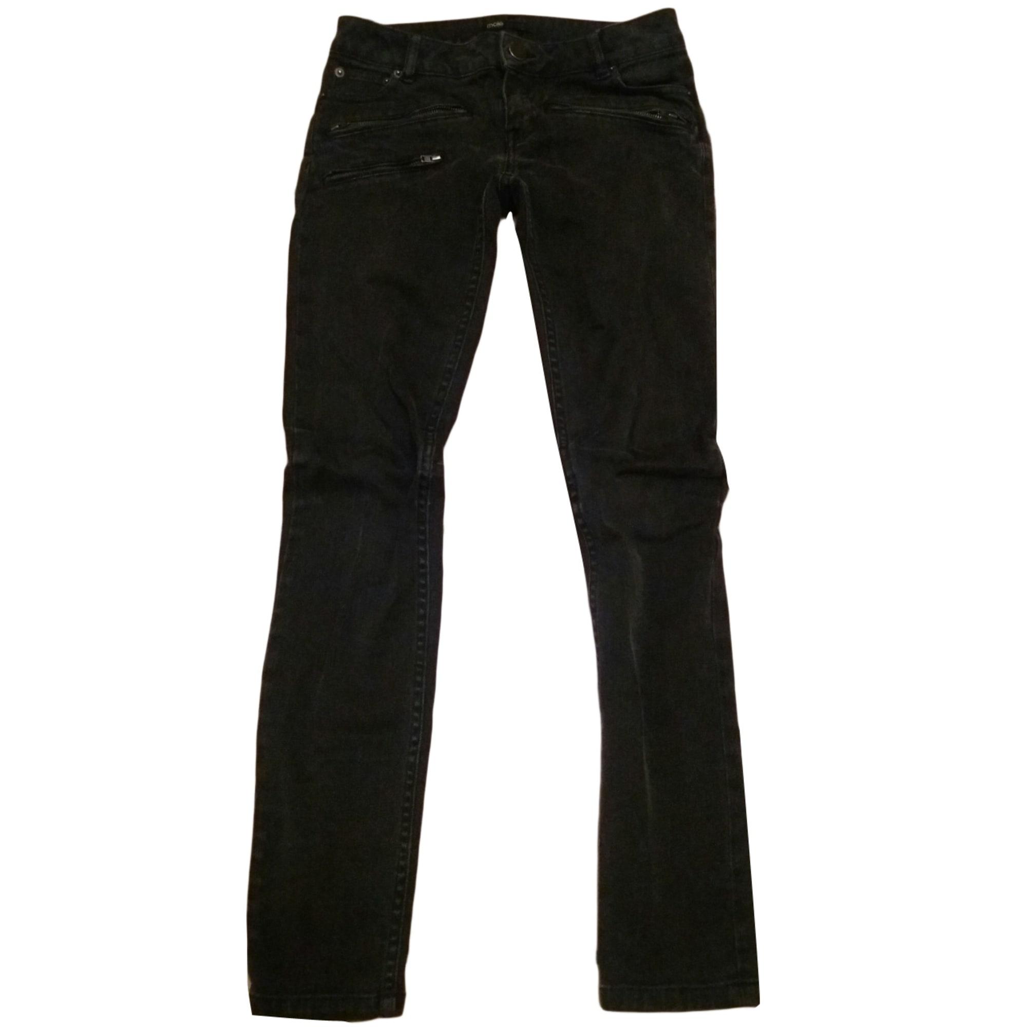 Jeans slim MAJE Noir