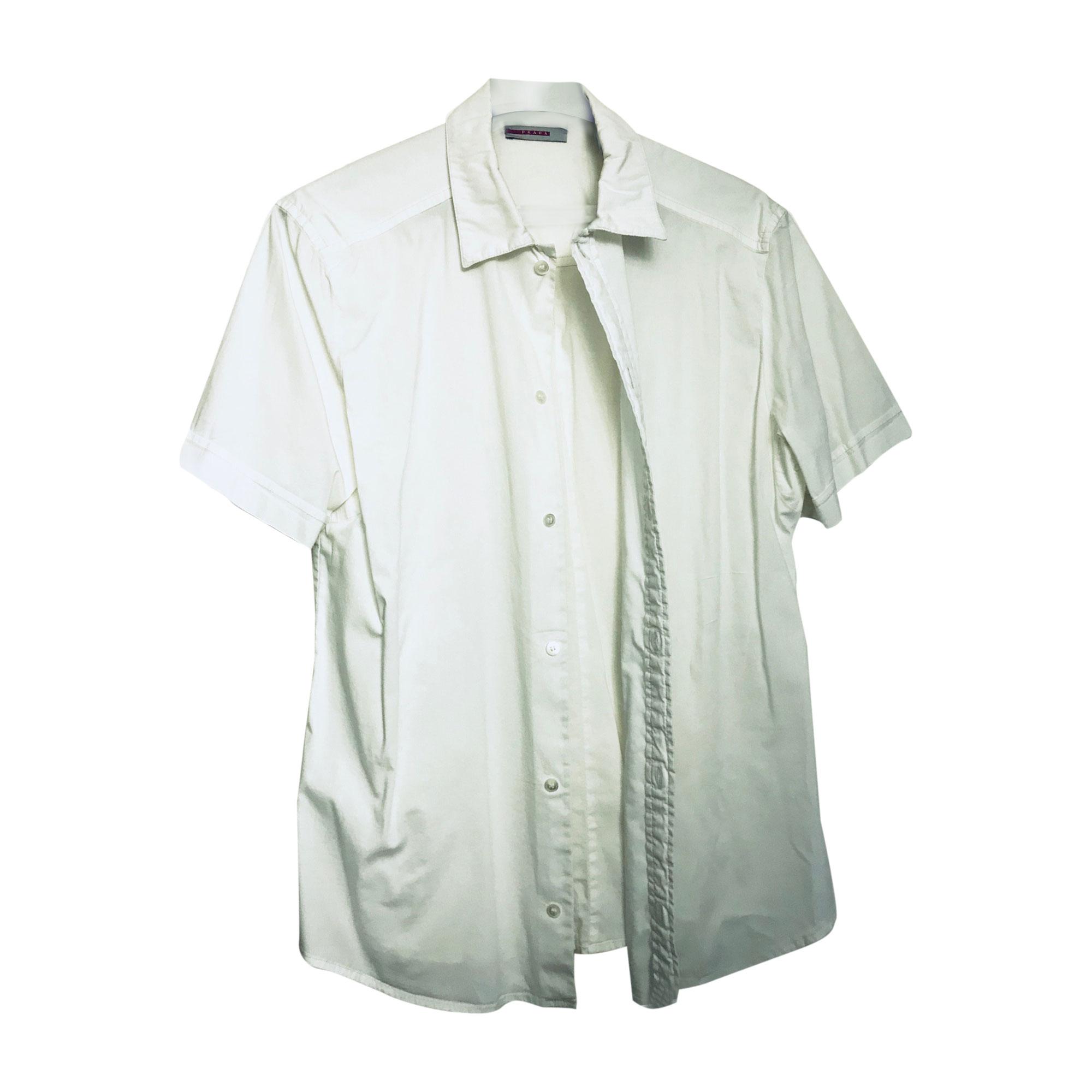 Chemisette PRADA Blanc, blanc cassé, écru