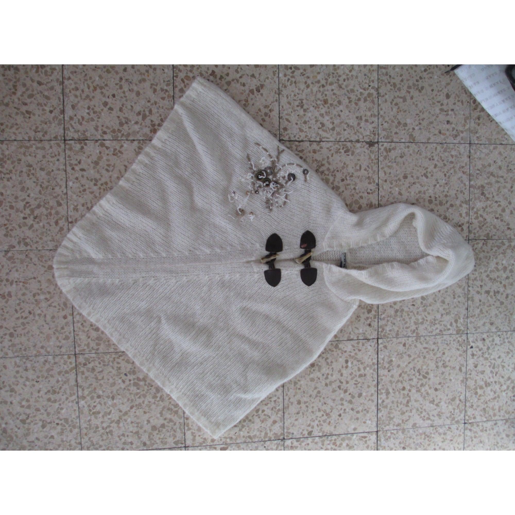 Poncho IKKS Blanc, blanc cassé, écru