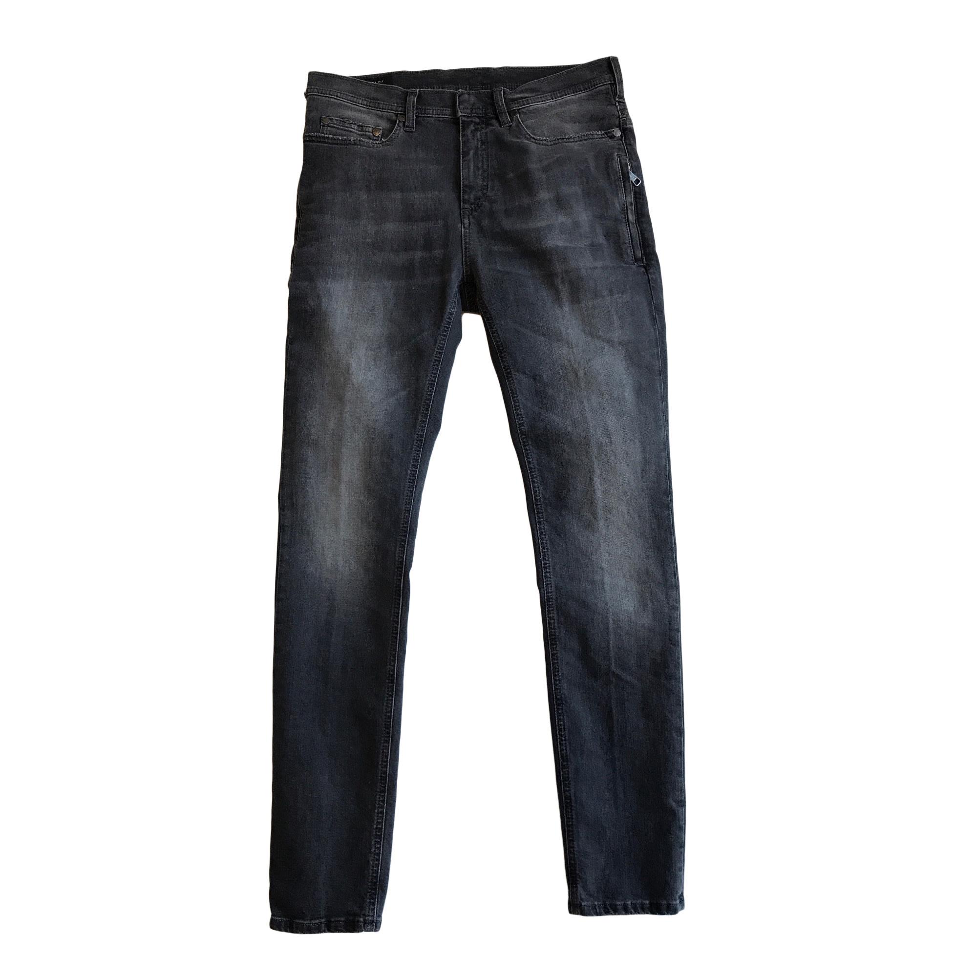 Jeans slim NEIL BARRETT Gris, anthracite
