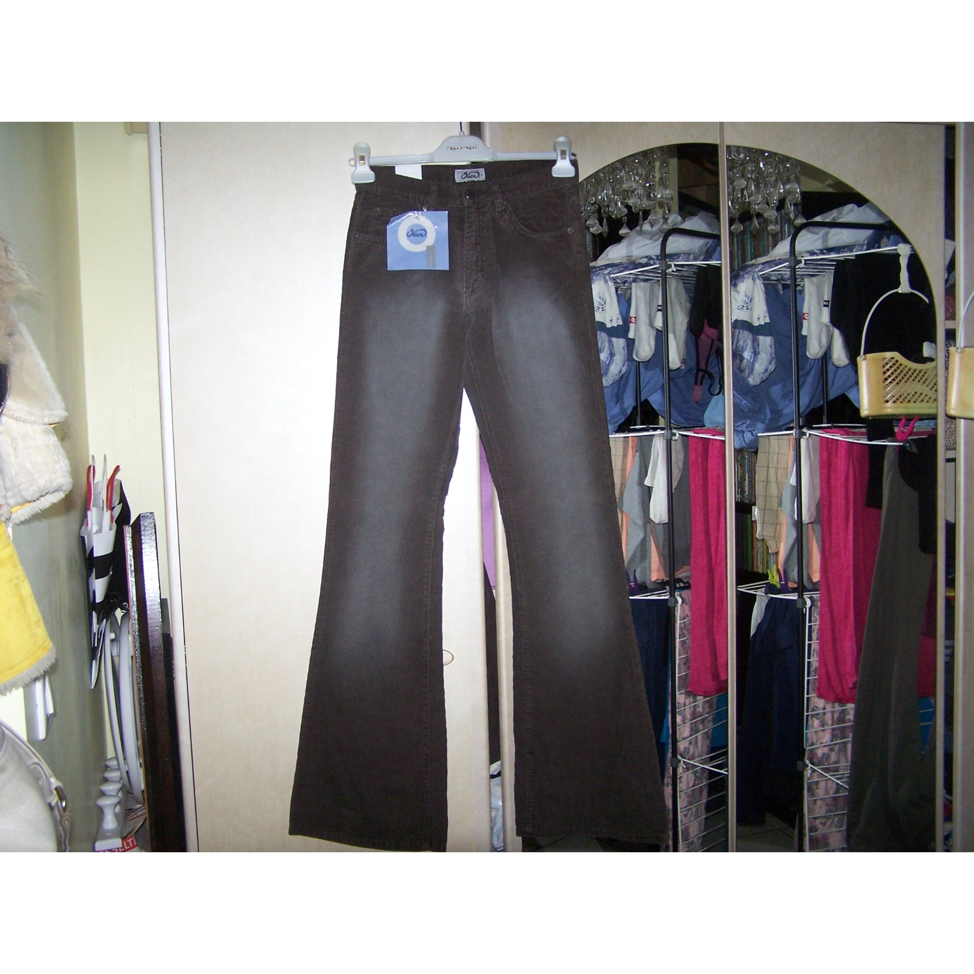 Jeans évasé, boot-cut OBER Marron
