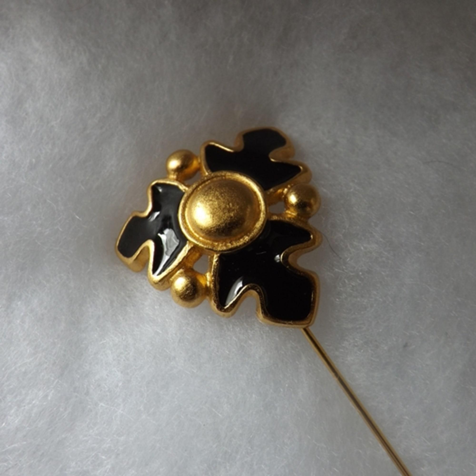 Broche ROCHAS Doré, bronze, cuivre