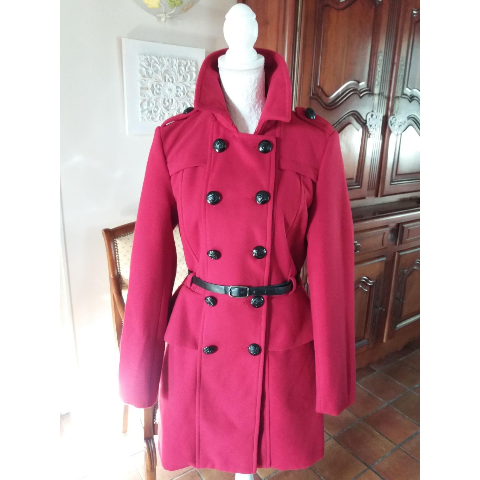 Manteau MYSTIC Rouge, bordeaux