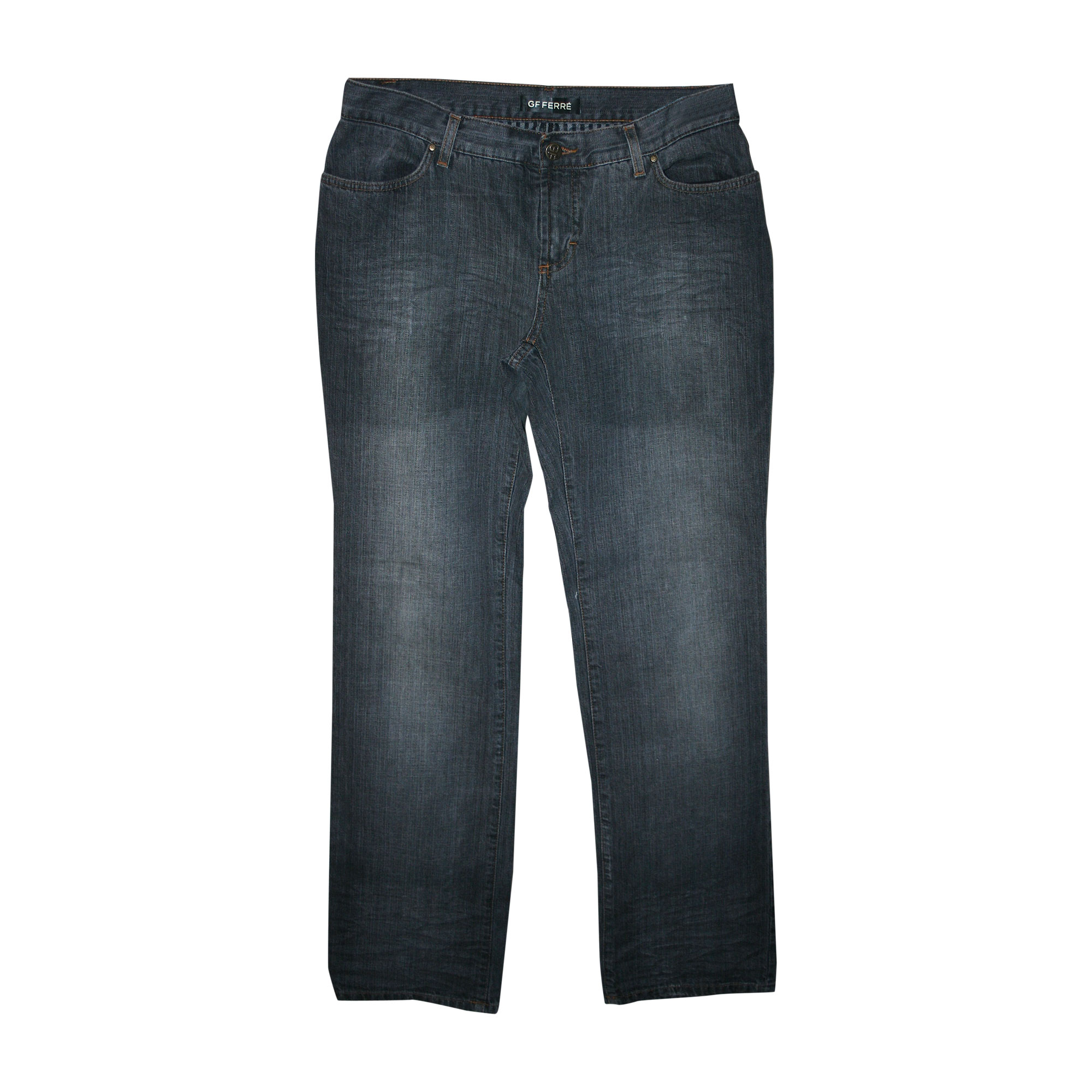 Jeans droit GIANFRANCO FERRE Gris, anthracite