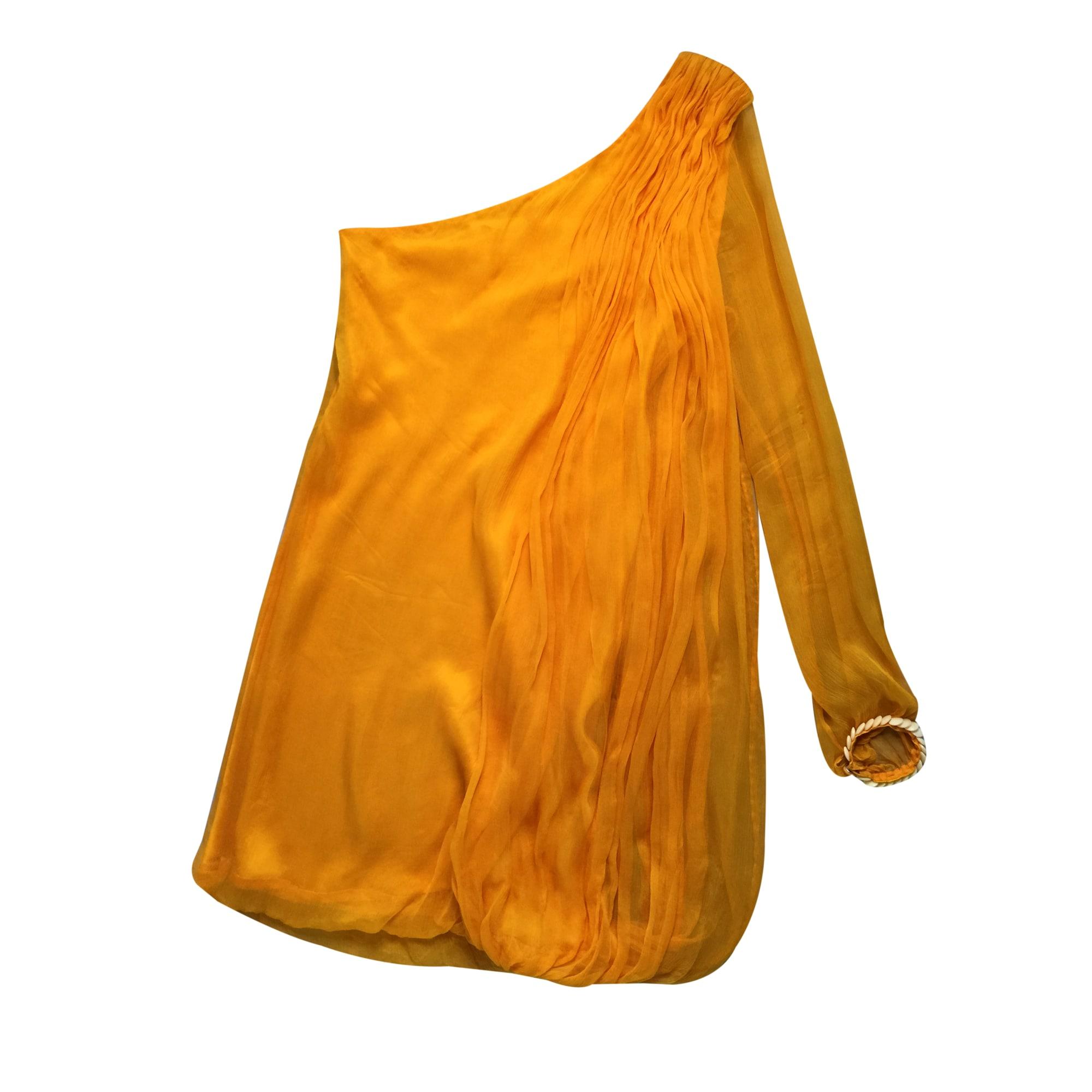 Robe courte LEILA HAFZI Orange