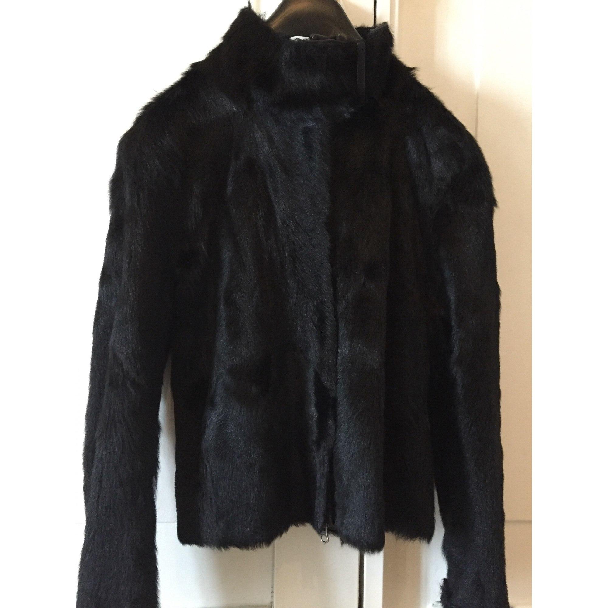 Blouson, veste en fourrure JOSEPH Noir