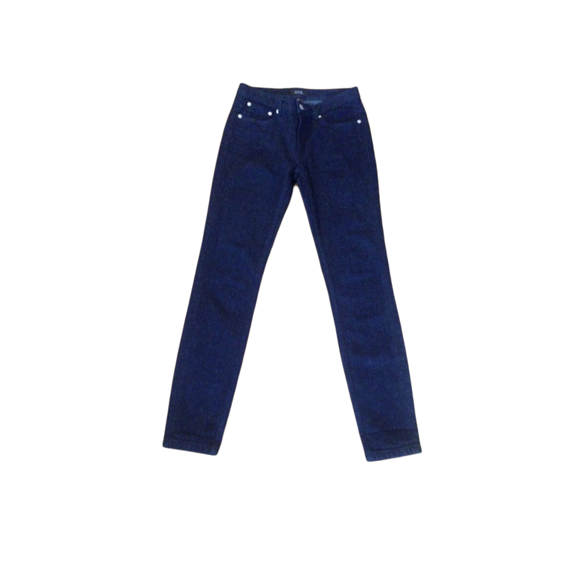 Pantalon slim, cigarette APC Bleu, bleu marine, bleu turquoise