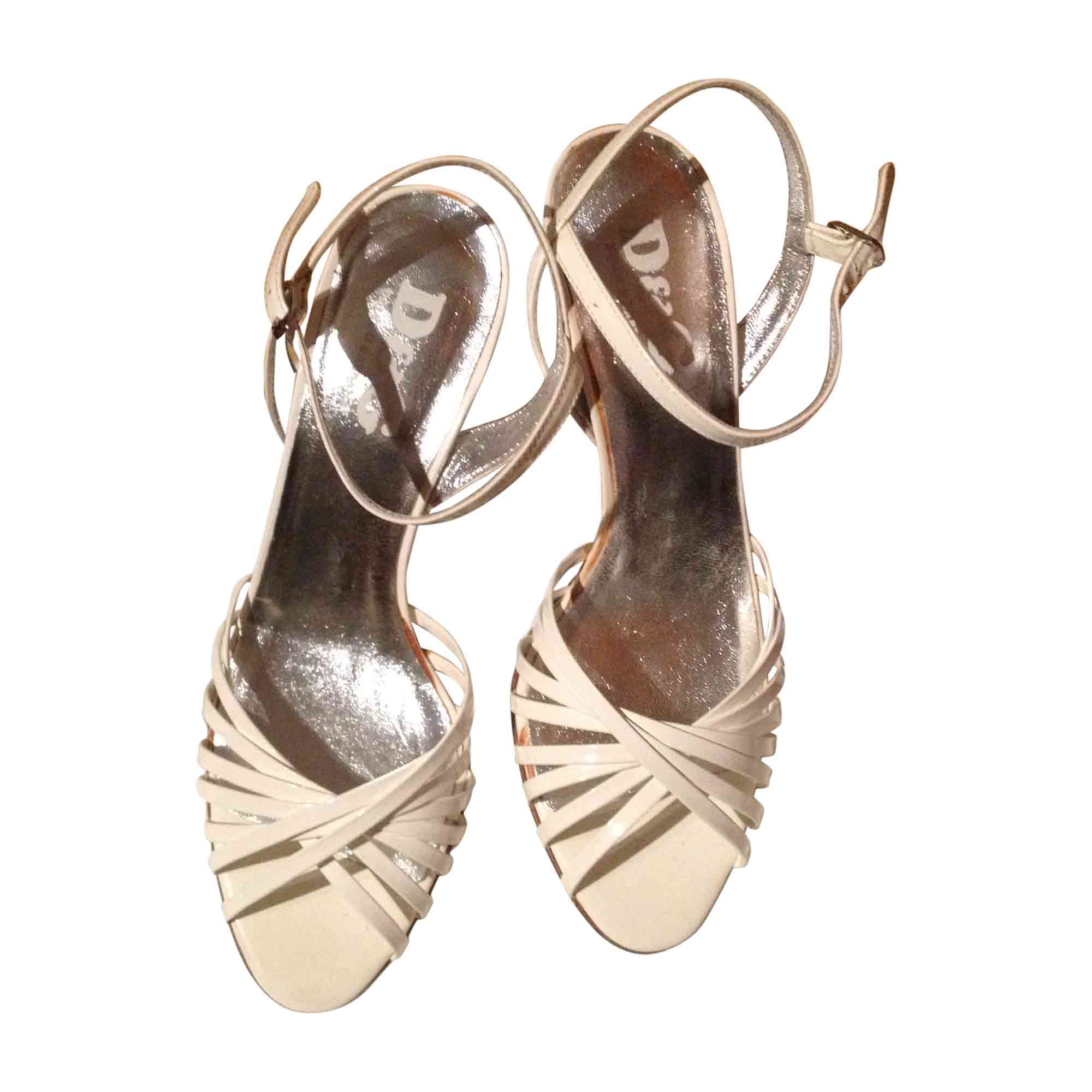 Sandales à talons DOLCE & GABBANA Blanc, blanc cassé, écru