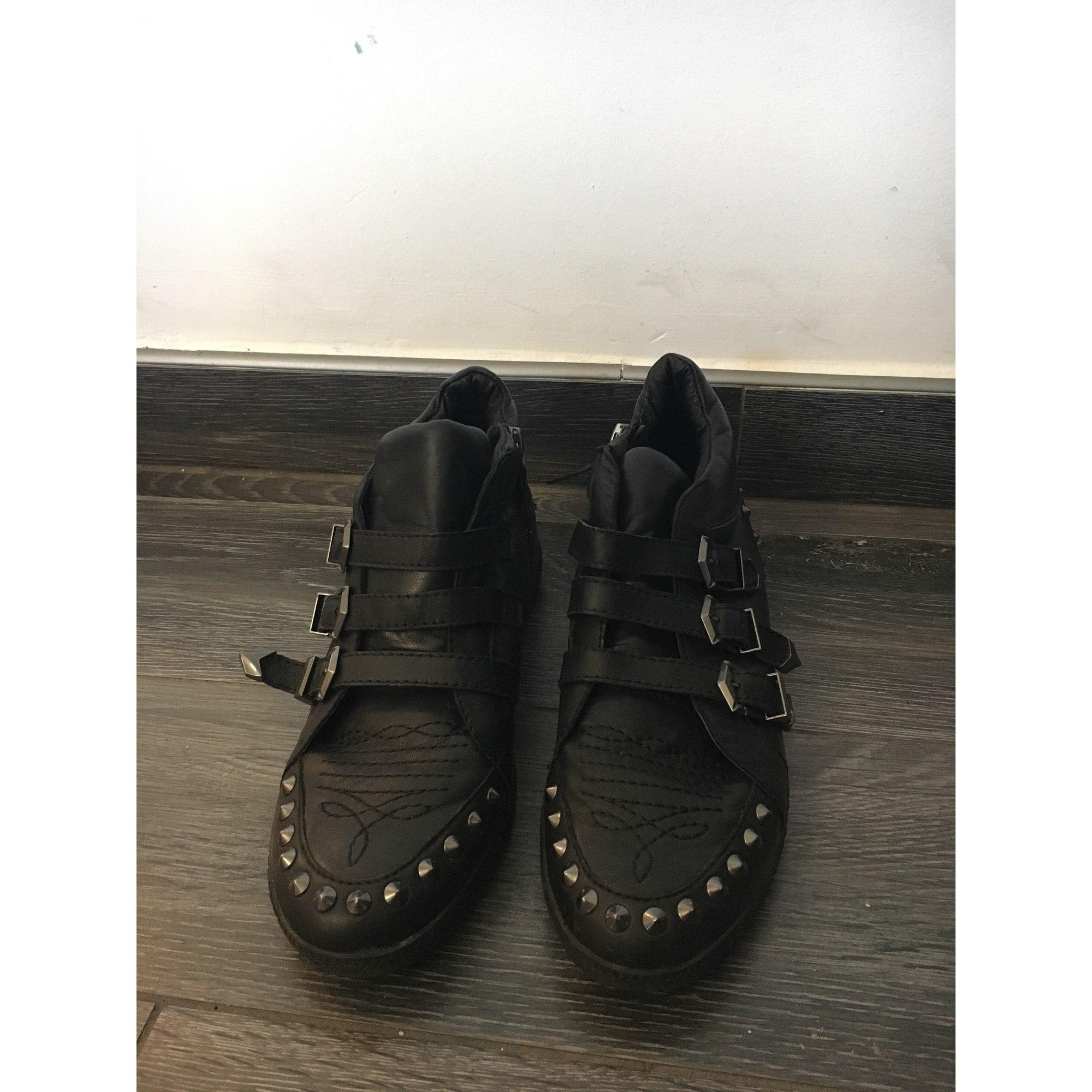 Bottines & low boots plates ASH Noir